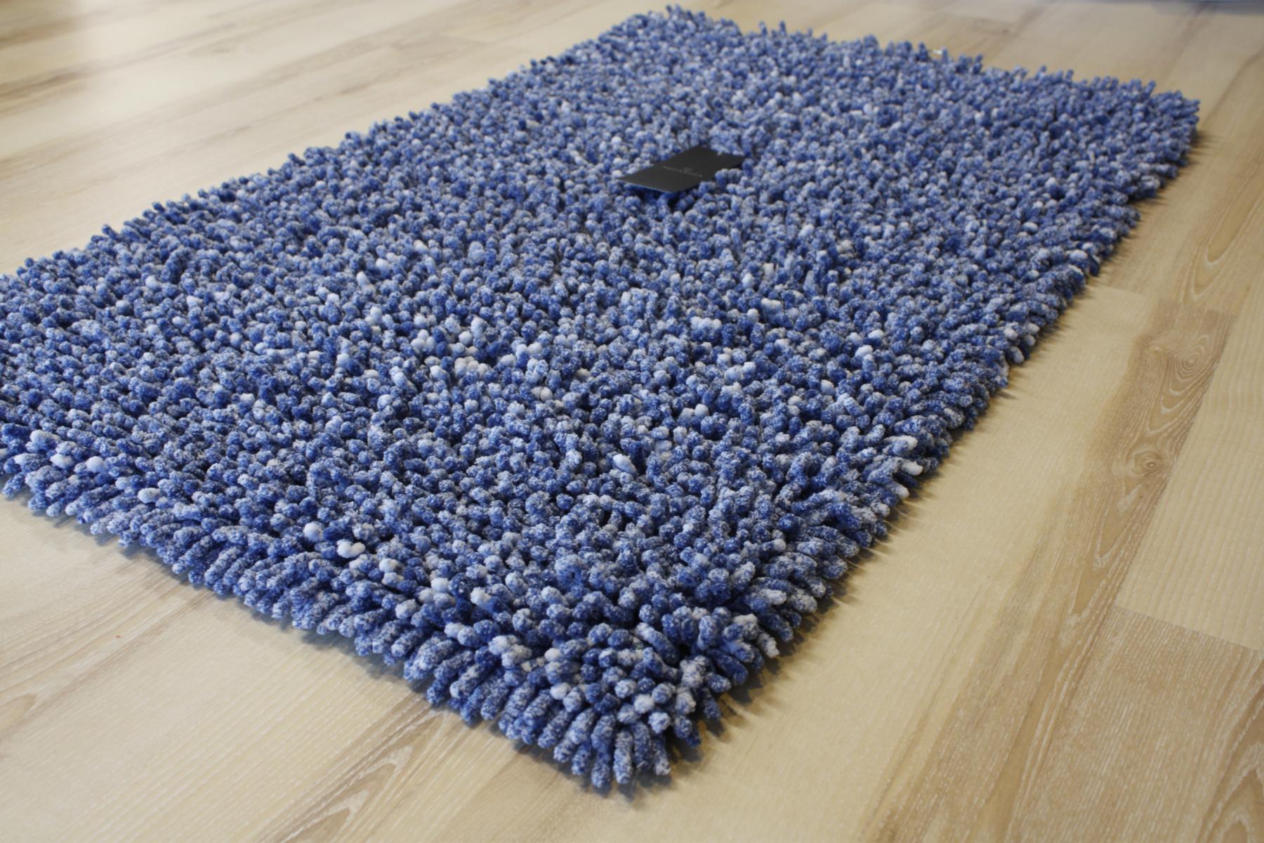 Bathroom Rug Aquanova Elvira 76 Denim Blue 70x120cm  eBay