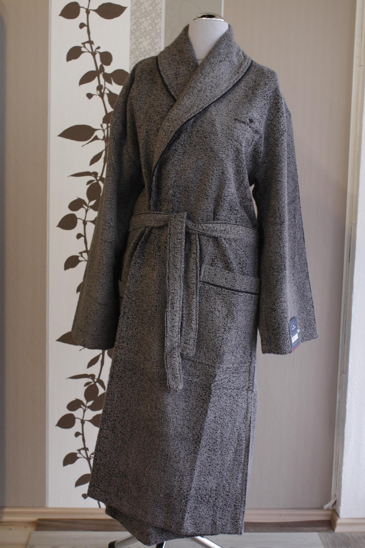 Tom Tailor Vitality Bathrobe 926 black S Bademantel