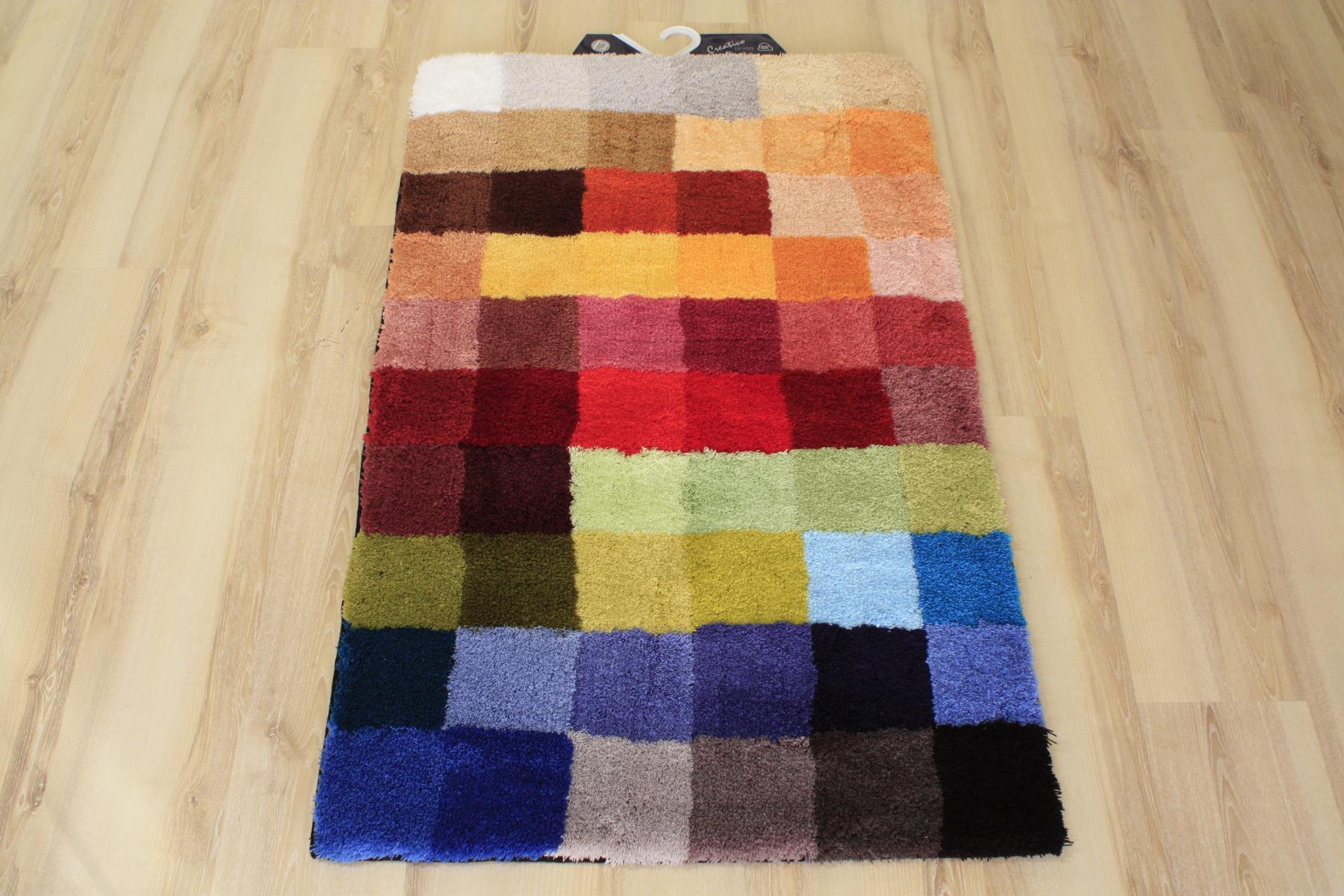 bathroom rug kleine wolke cubetto multicolour 65x90 cm ebay. Black Bedroom Furniture Sets. Home Design Ideas