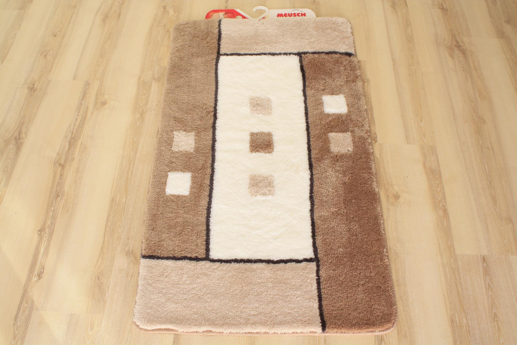badteppich badematte meusch grafiko 271 taupe 80x140cm ebay. Black Bedroom Furniture Sets. Home Design Ideas