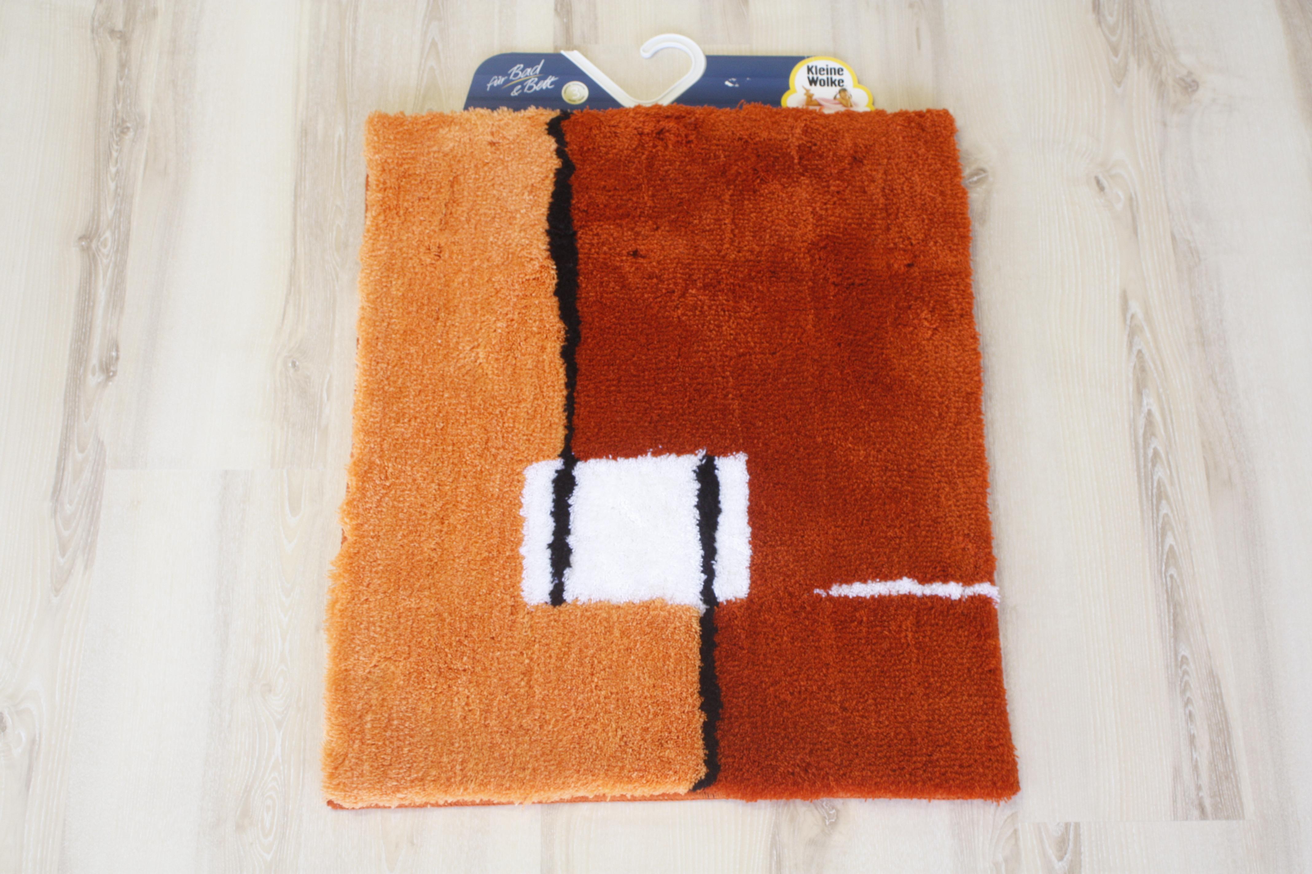 Bathroom rug Kleine Wolke Malaga Chili 55×65 cm  eBay