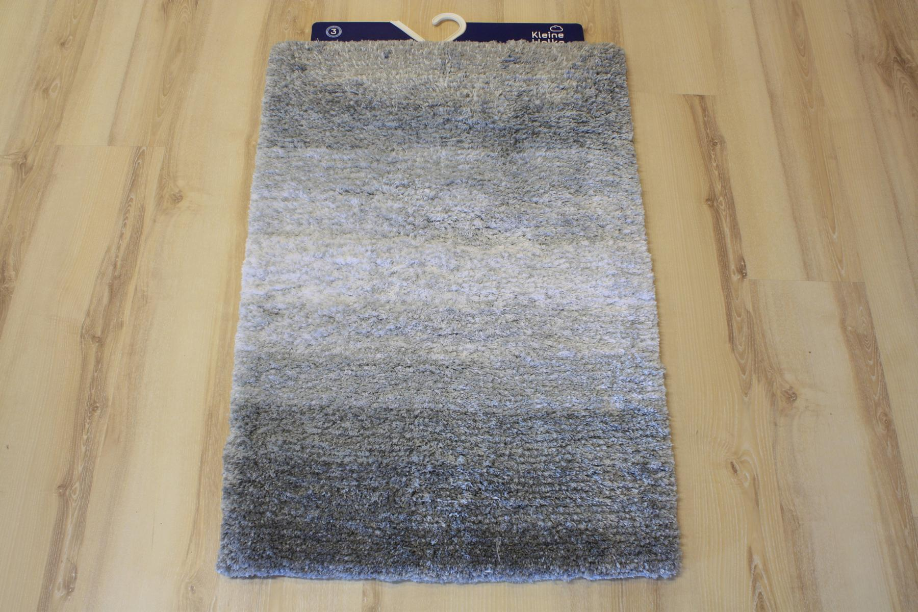Badteppich Badematte Kleine Wolke Oslo 977 Platin 70x120 cm