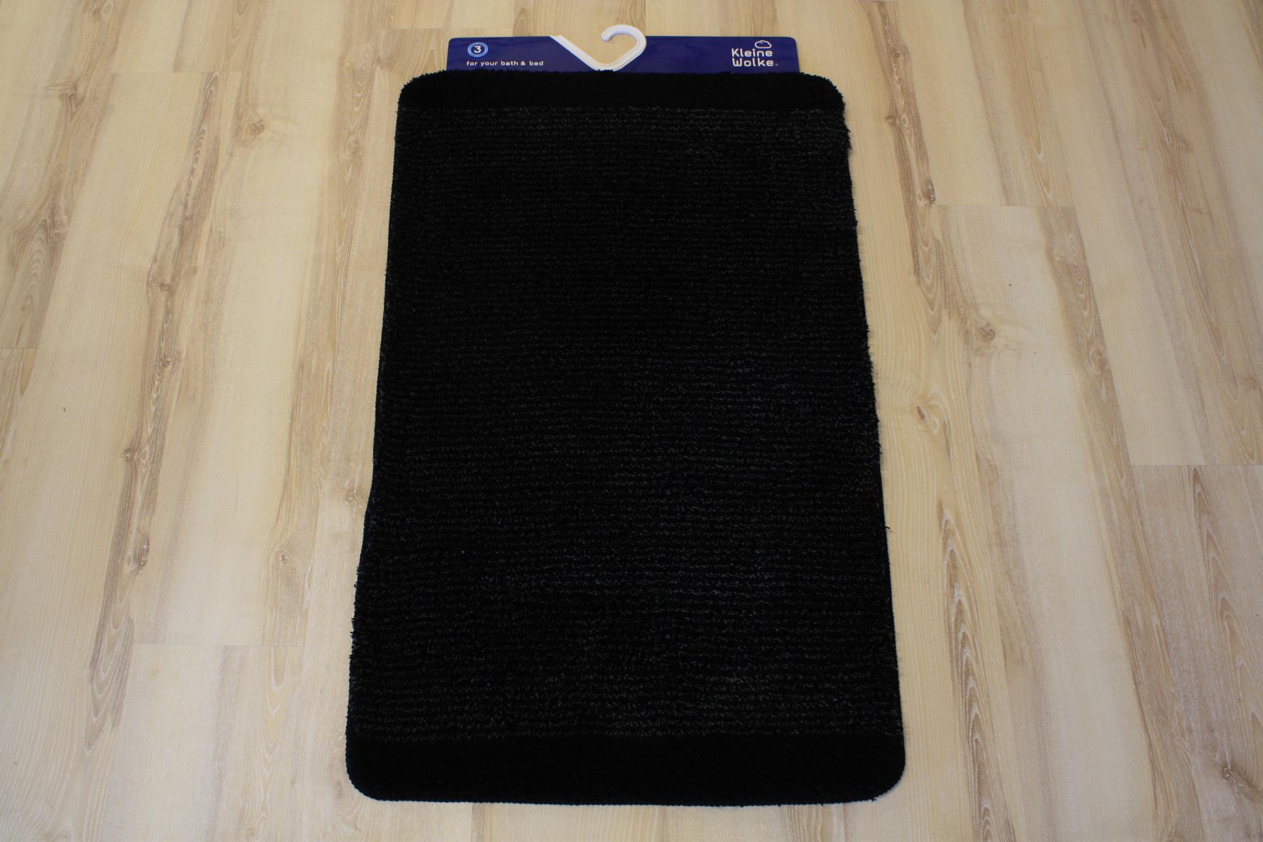 tapis de bain kleine wolke singapour 926 noir 60x100 cm ebay. Black Bedroom Furniture Sets. Home Design Ideas