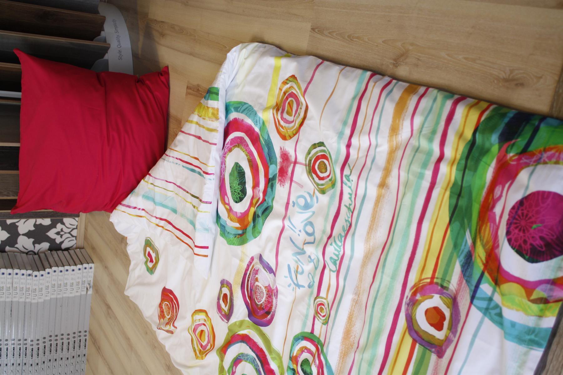 Desigual ropa de cama pintura fiesta 2 teilig 155x220cm 80x80cm coj n ebay - Desigual ropa de cama ...