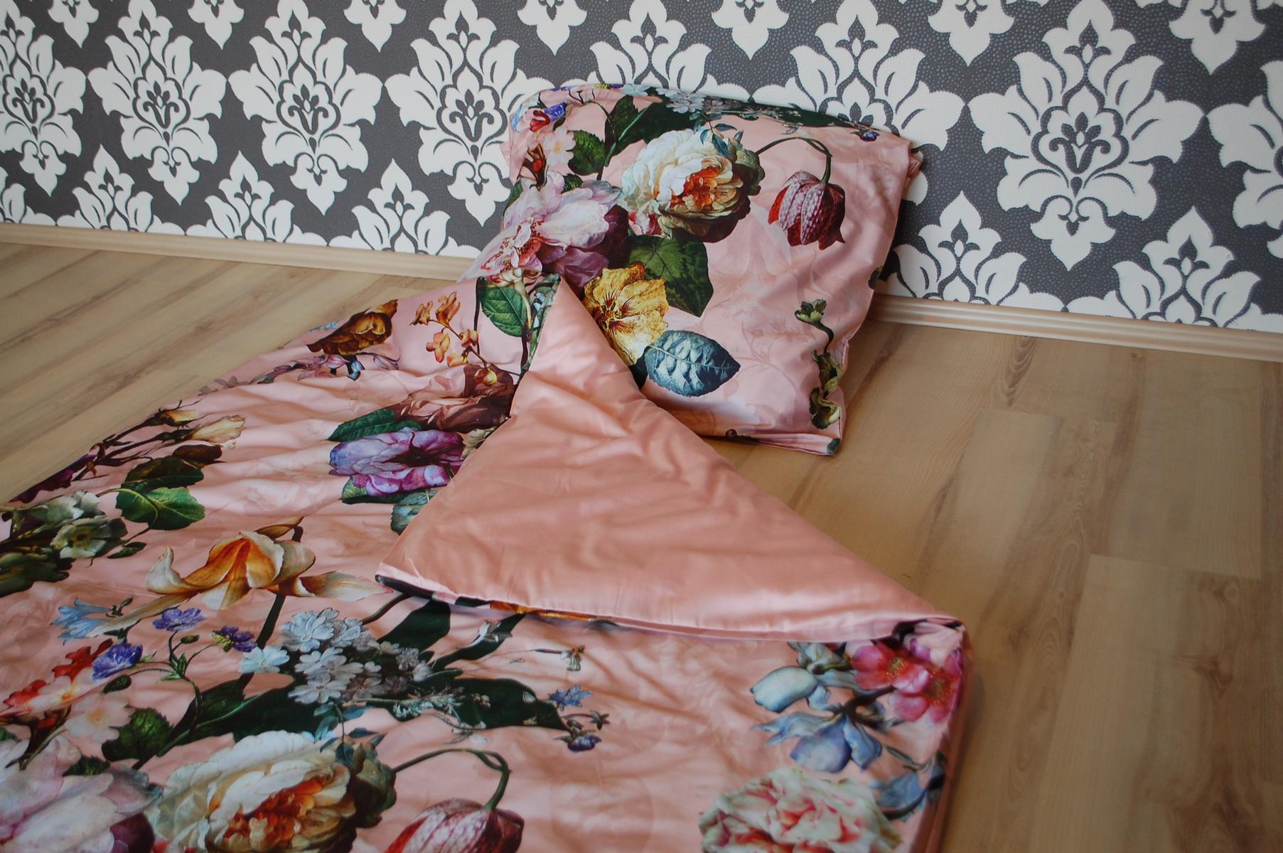 Essenza Bettwäsche Fleur Rose 2 Teilig 155x220cm 80x80cm Rosa Ebay