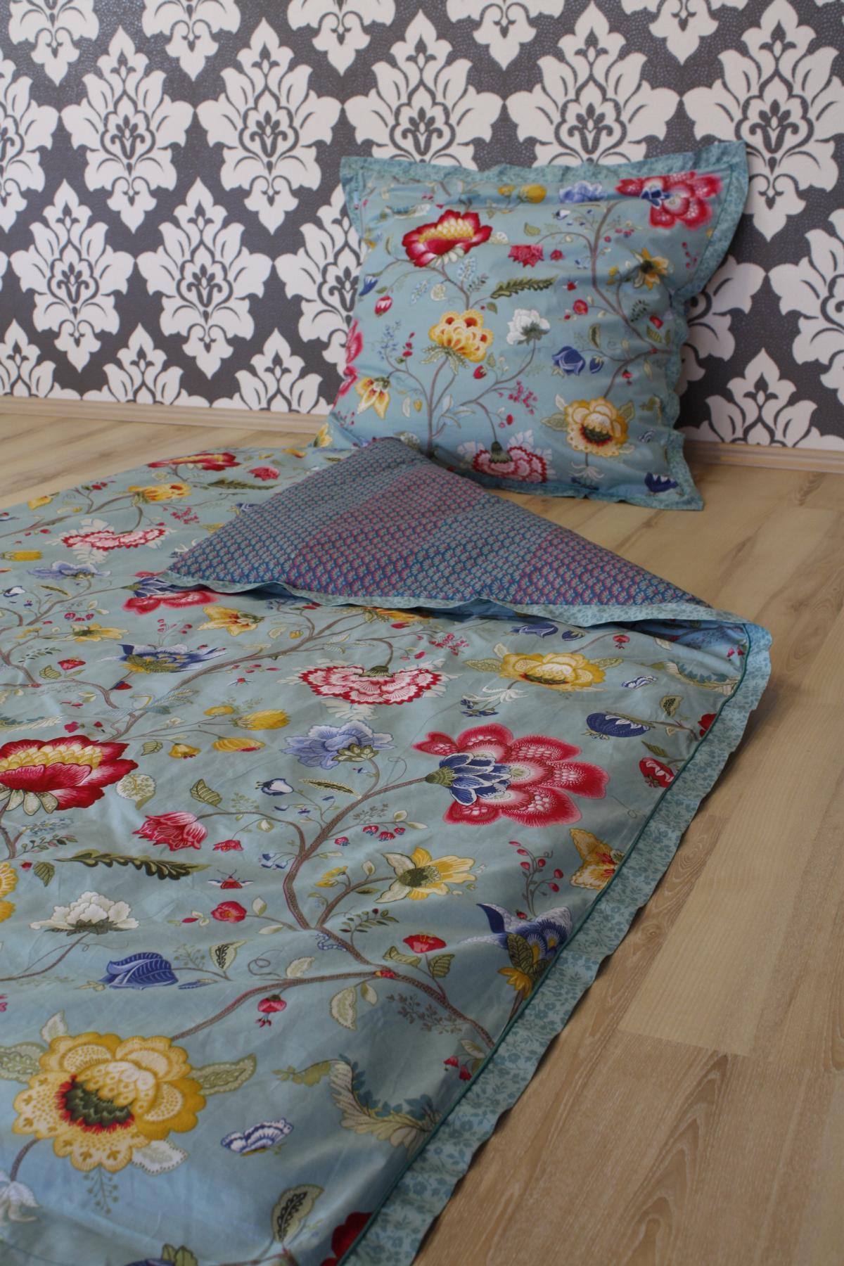 pip studio bettw sche floral fantasy ecru 2 teilig 135x200cm 80x80cm kissen. Black Bedroom Furniture Sets. Home Design Ideas