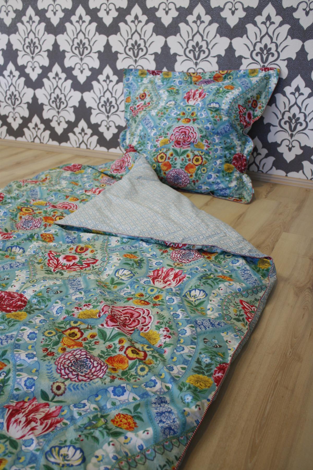 pip studio bettw sche melody blue 2 teilig 135x200cm. Black Bedroom Furniture Sets. Home Design Ideas