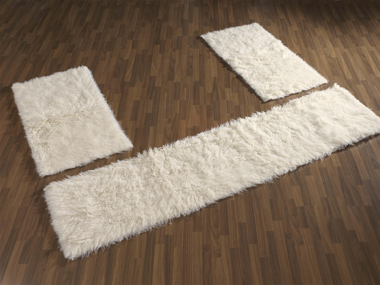 flokati langflor teppich bettumrandung natur 1500 g m m ebay. Black Bedroom Furniture Sets. Home Design Ideas