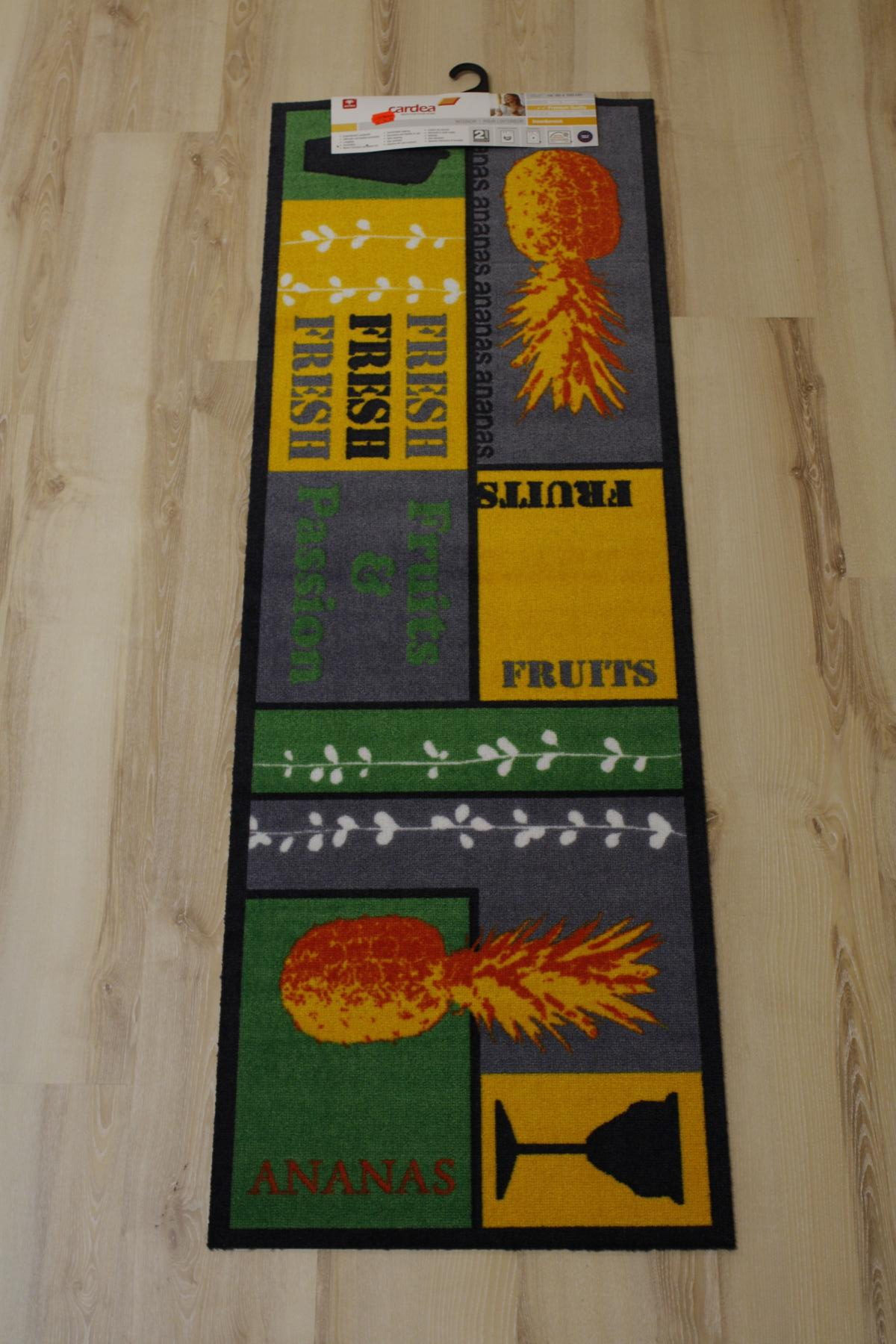 k chenl ufer matte cardea astra 17 fruits design 50x150 cm waschbar ausl ebay. Black Bedroom Furniture Sets. Home Design Ideas