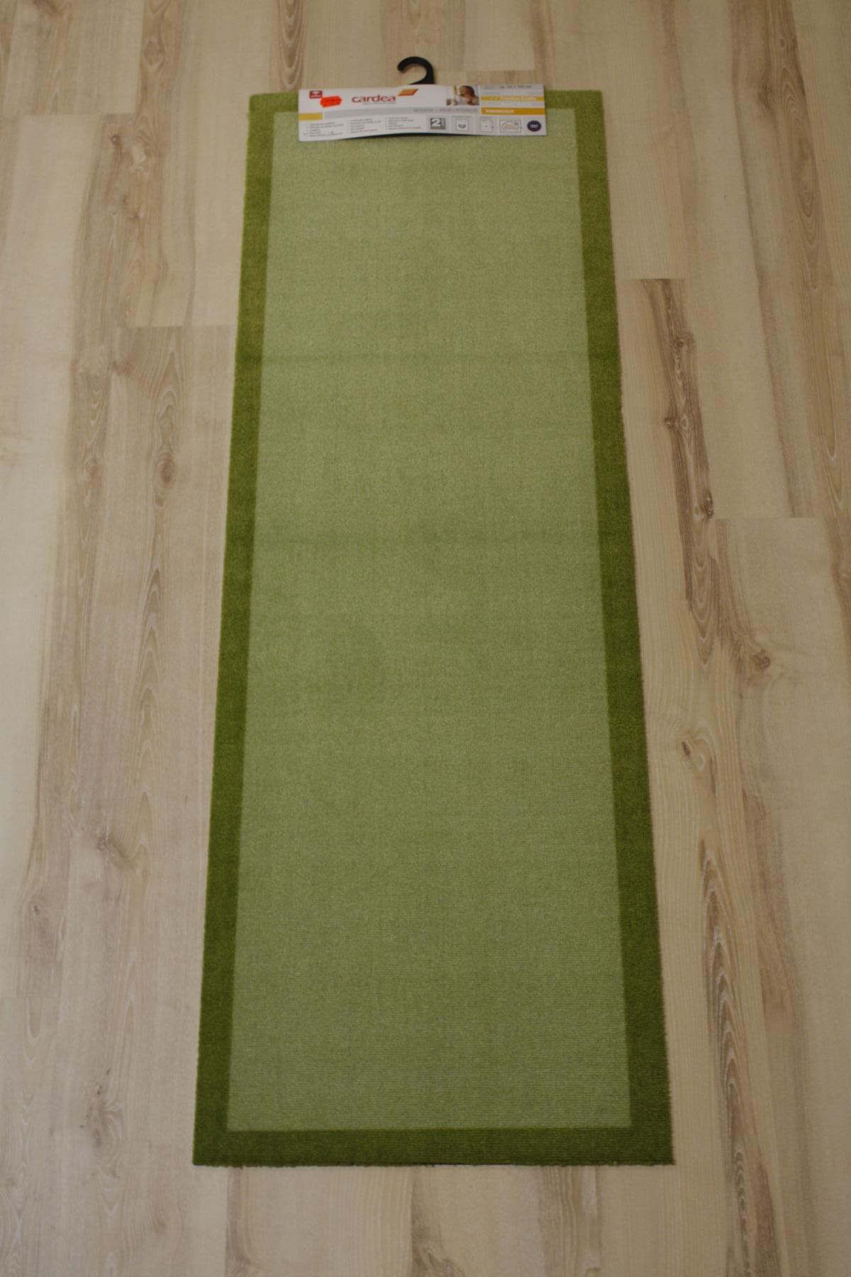 Kitchen runner Mat cardea Astra 11 Olio Uni green 50×150