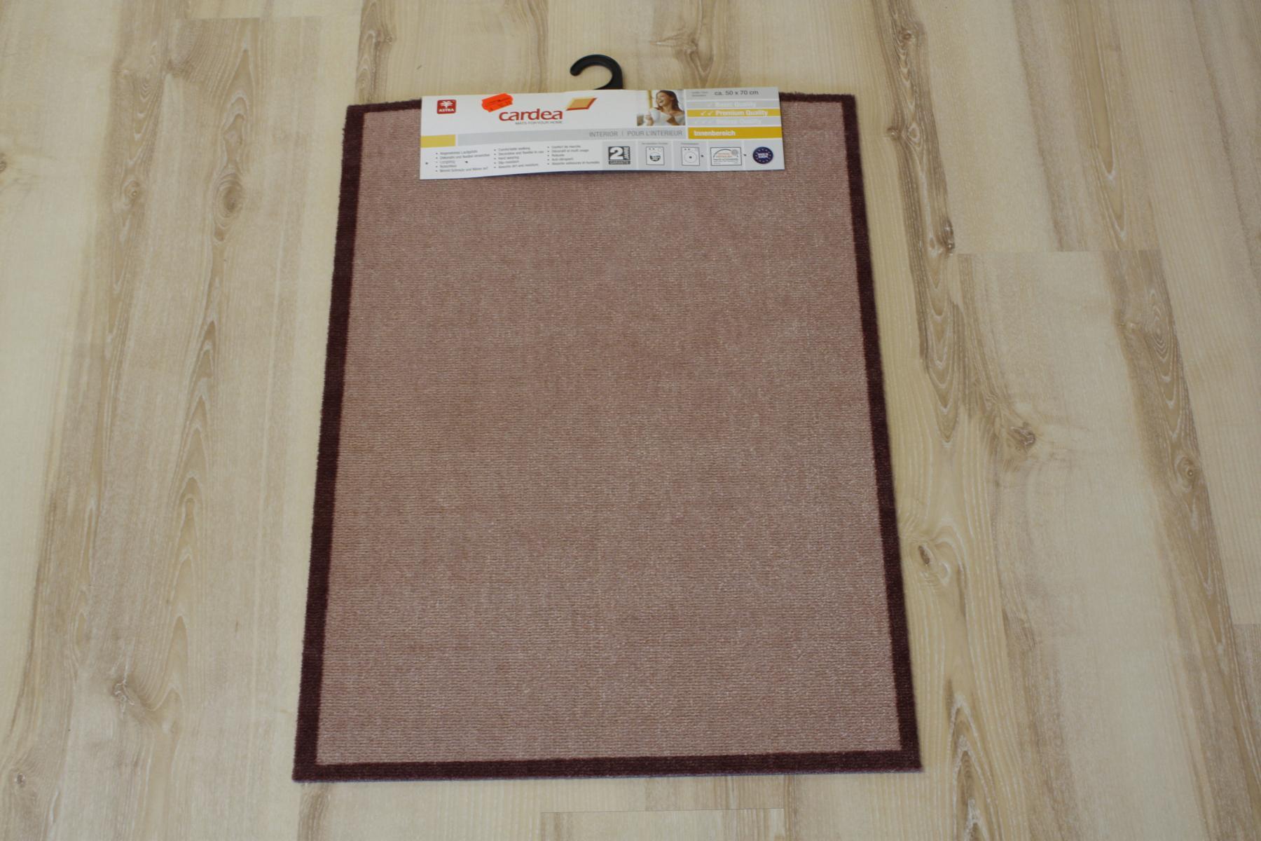 fu matte t rmatte cardea astra 10 hungry uni braun 50x70 cm waschbar ausl ebay. Black Bedroom Furniture Sets. Home Design Ideas