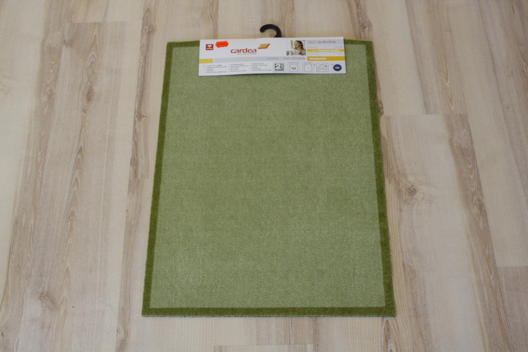 Alfombrilla Felpudo cardea Astra 11 Olio Verde liso 50×70