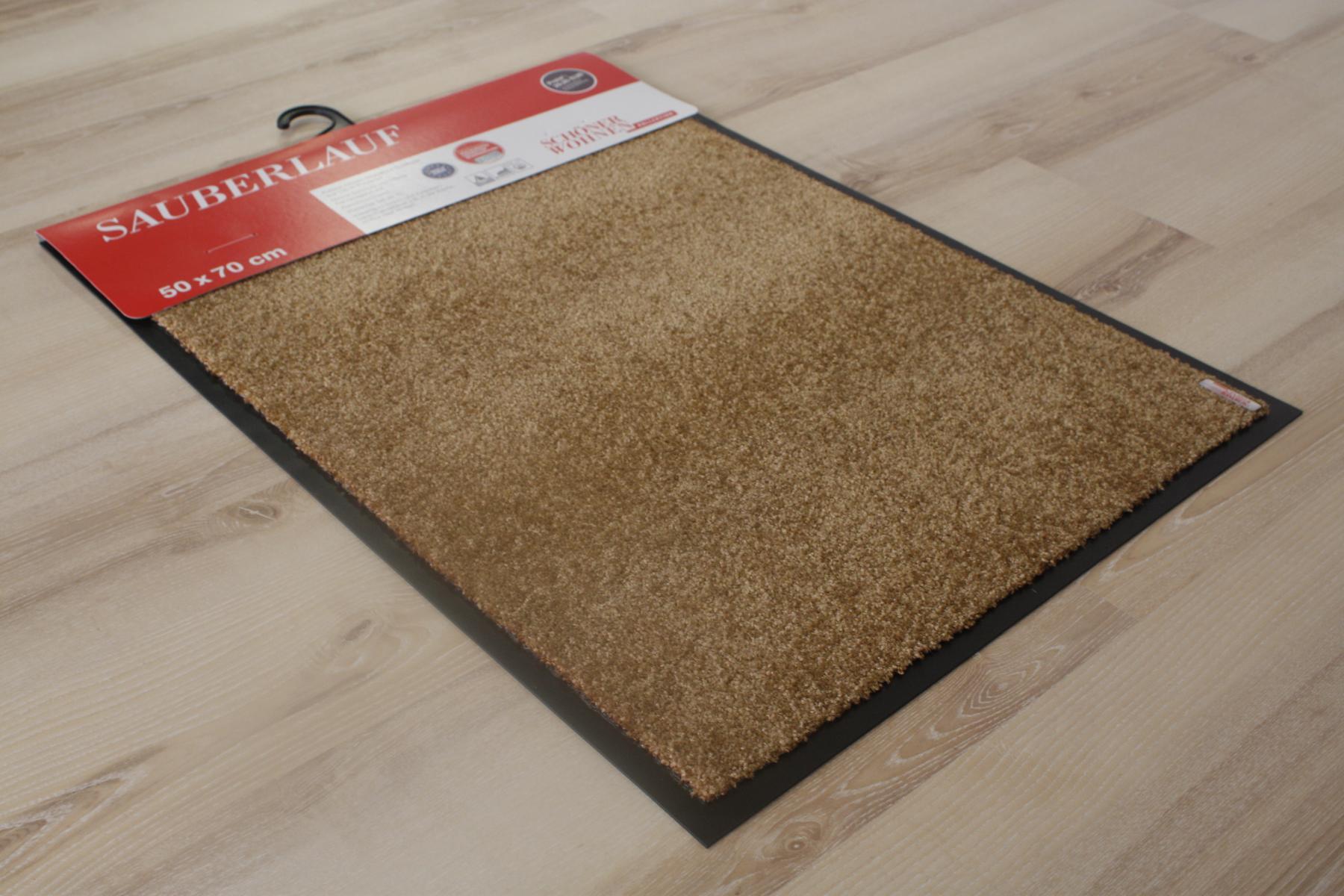 doormat sch ner wohnen 001 uni 008 gold 50x70 cm doormat. Black Bedroom Furniture Sets. Home Design Ideas