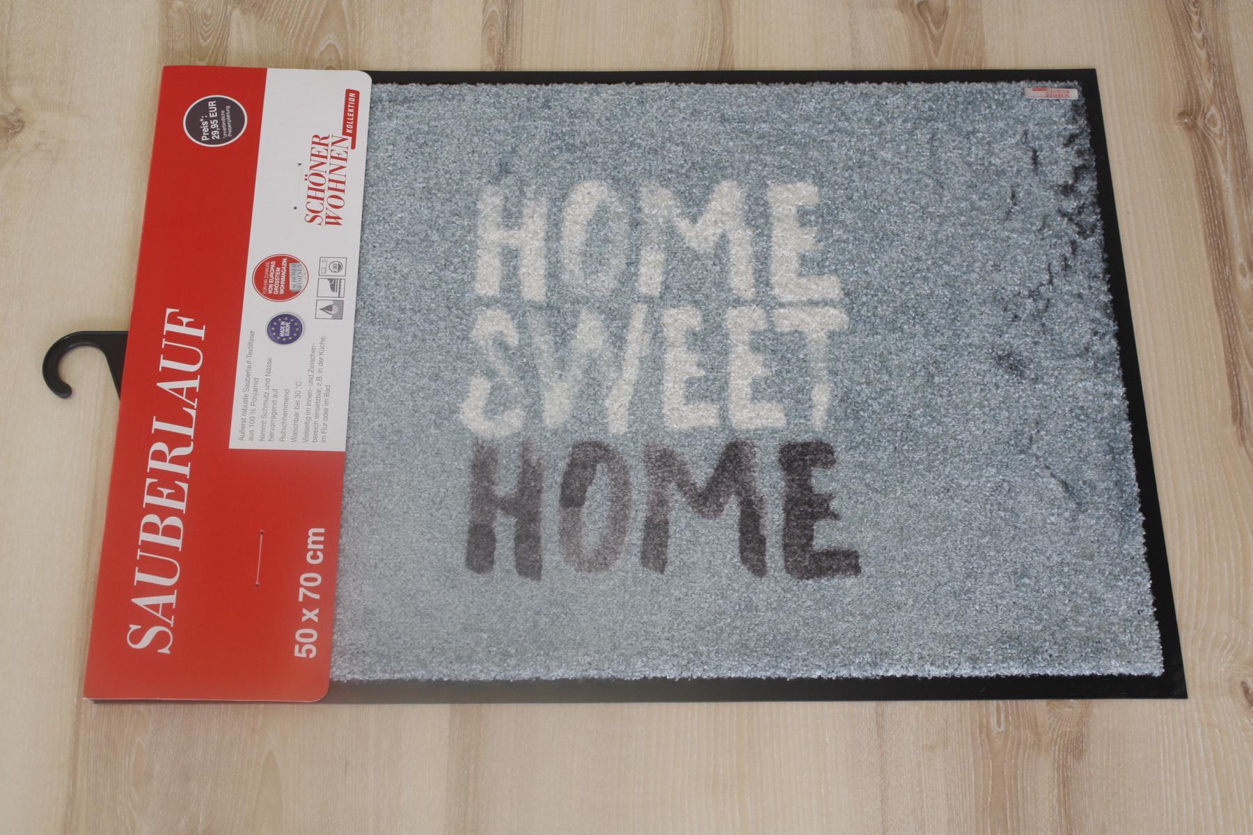 fu matte sch ner wohnen 132 home sweet home t rkis 50x70 cm t rmatte ebay. Black Bedroom Furniture Sets. Home Design Ideas