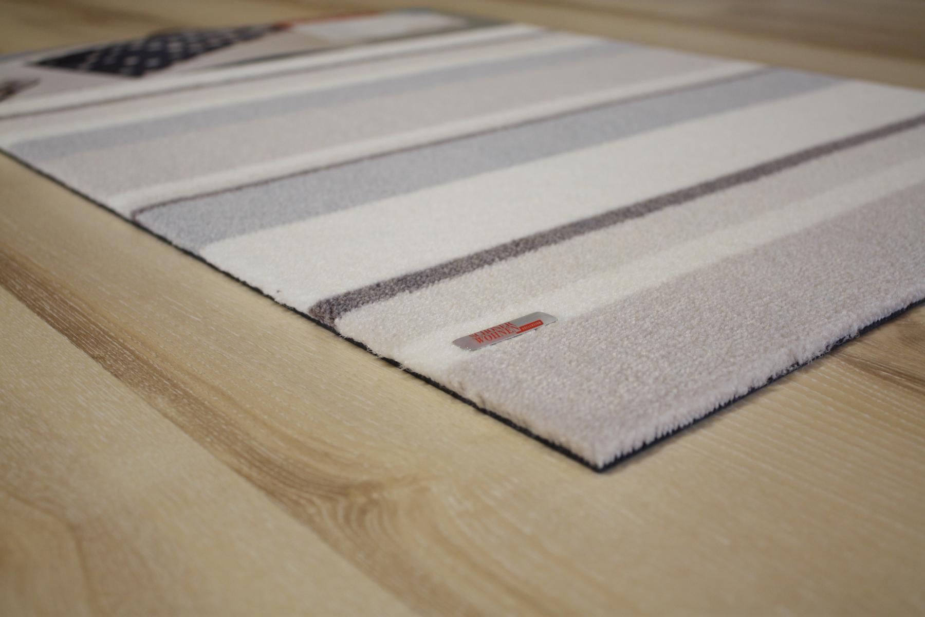 fu matte sch ner wohnen design 13 brooklyn streifen beige 66x110 cm t rmatte. Black Bedroom Furniture Sets. Home Design Ideas