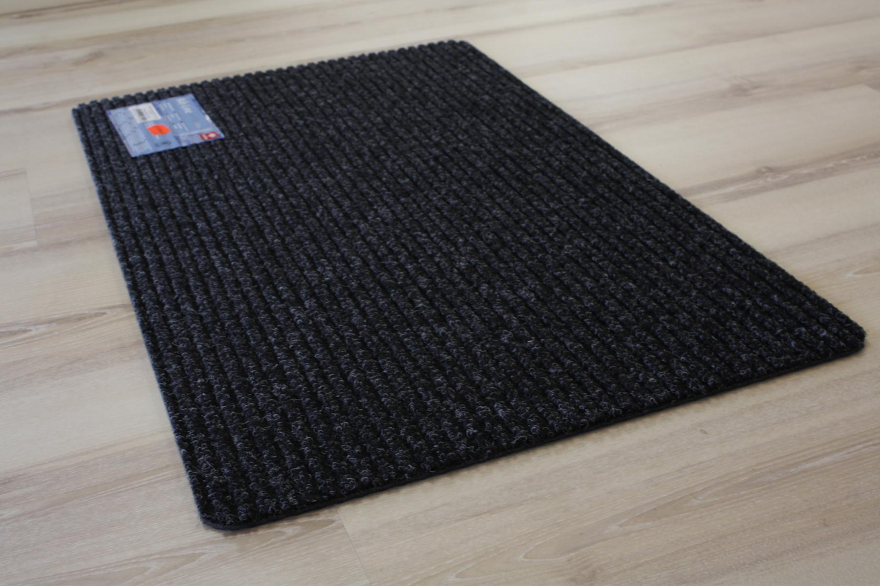 fu matte t rmatte rib line 48 schwarz grau 40x60 cm ebay. Black Bedroom Furniture Sets. Home Design Ideas