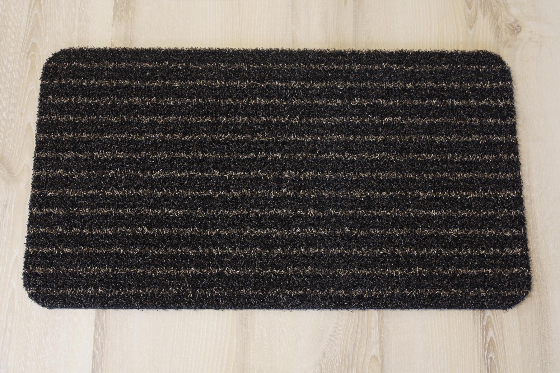 fu matte t rmatte kunstrasen gestreift braun schwarz 40x70cm ebay. Black Bedroom Furniture Sets. Home Design Ideas