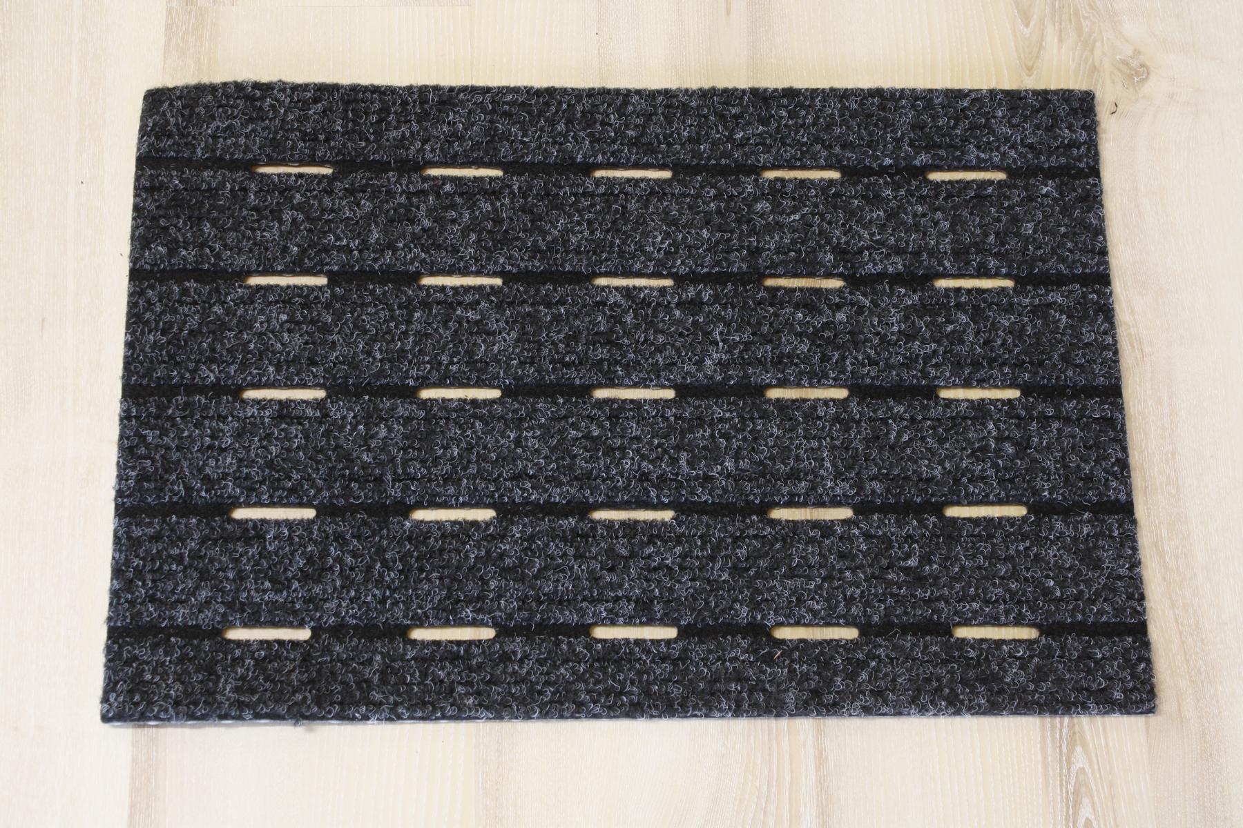 fu matte t rmatte schlitze drainage schwarz grau 40x60cm ebay. Black Bedroom Furniture Sets. Home Design Ideas