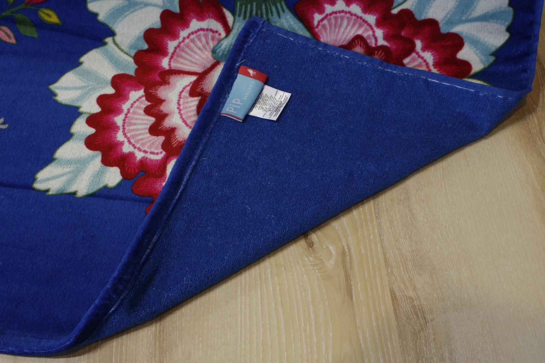 Beach Towels Hand Towels PIP Floral Fantasy dark blue