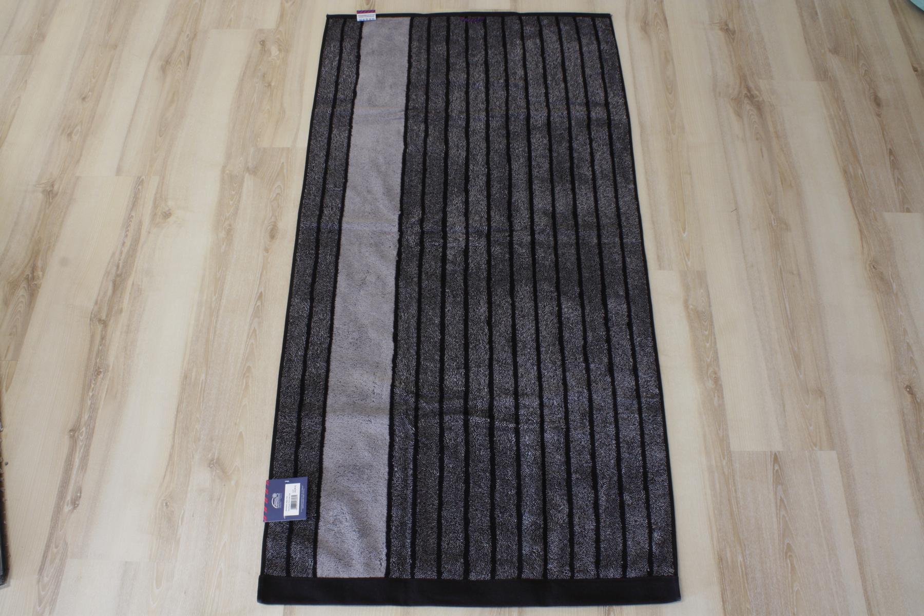 Tom Tailor Duschtuch Vitality Towel gestreift 926 schwarz
