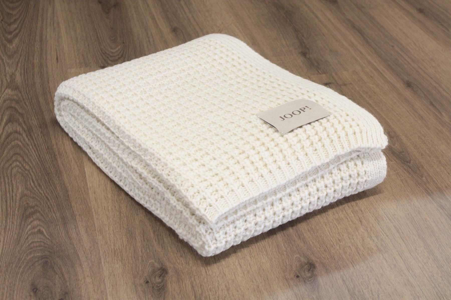 joop kuscheldecke wohndecke strickplaid knit natur 130x180cm 694003 4000141694003 ebay. Black Bedroom Furniture Sets. Home Design Ideas