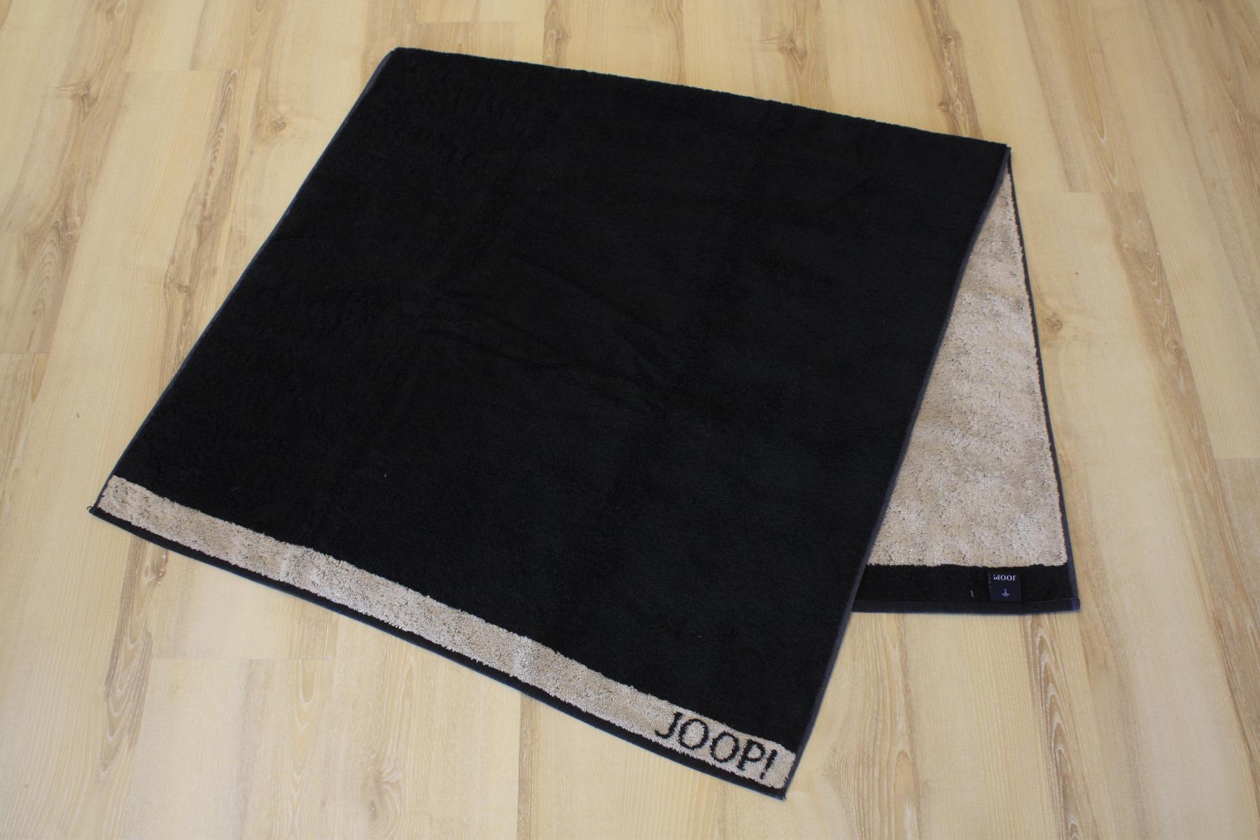 joop duschtuch badetuch 1651 doubleface 93 schwarz 80x150cm ebay. Black Bedroom Furniture Sets. Home Design Ideas