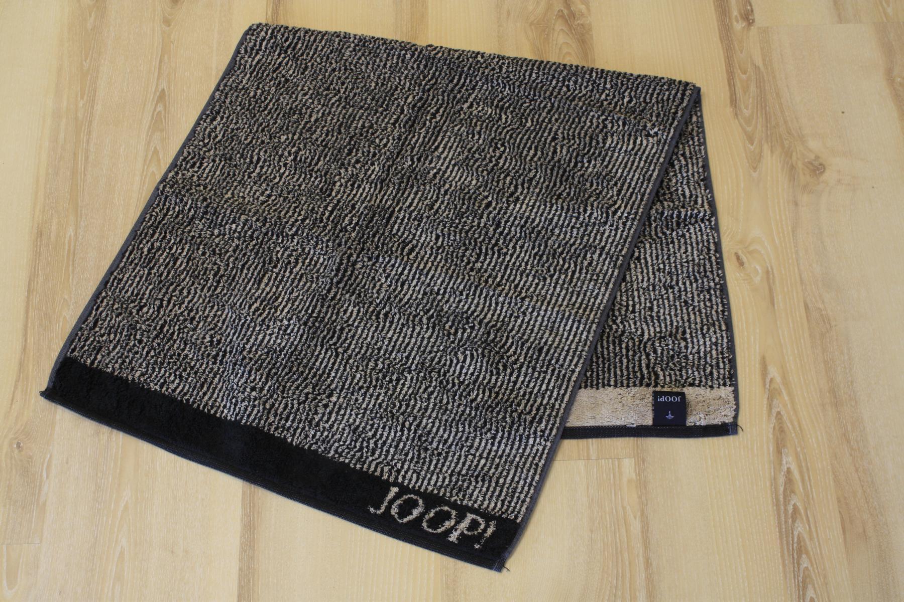 joop duschtuch badetuch 1652 stripes 93 schwarz 80x150cm ebay. Black Bedroom Furniture Sets. Home Design Ideas