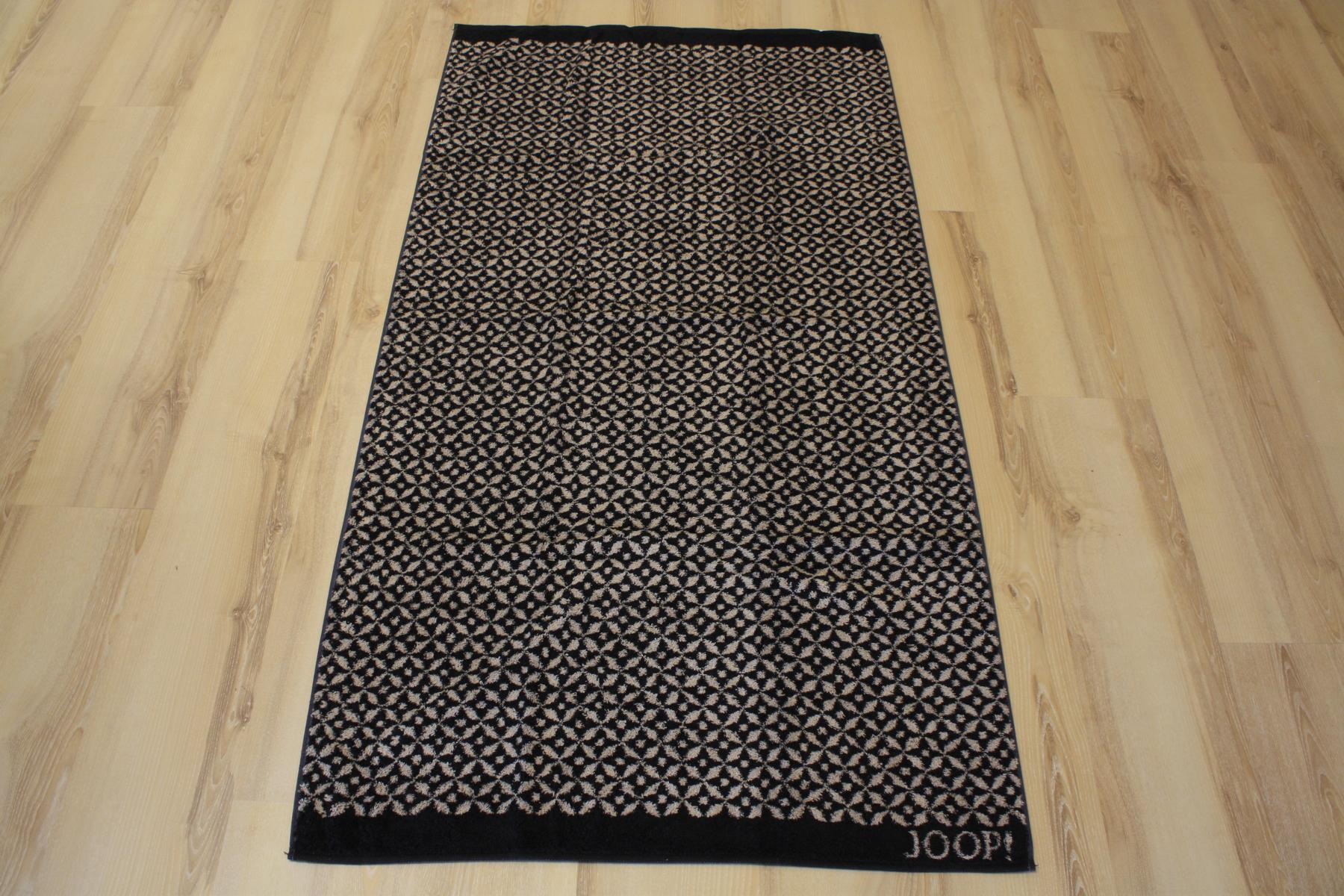 joop duschtuch badetuch 1653 allover 93 schwarz 80x150cm. Black Bedroom Furniture Sets. Home Design Ideas