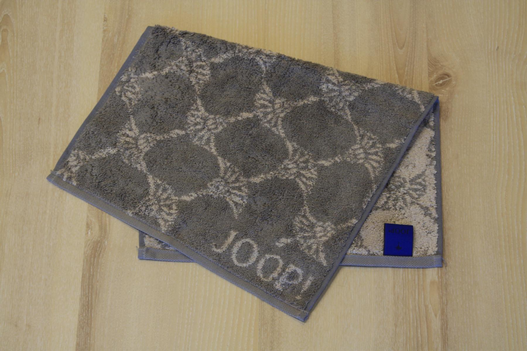 JOOP Handtuch Gästetuch 1600 Doubleface 70 Graphit 30x50cm