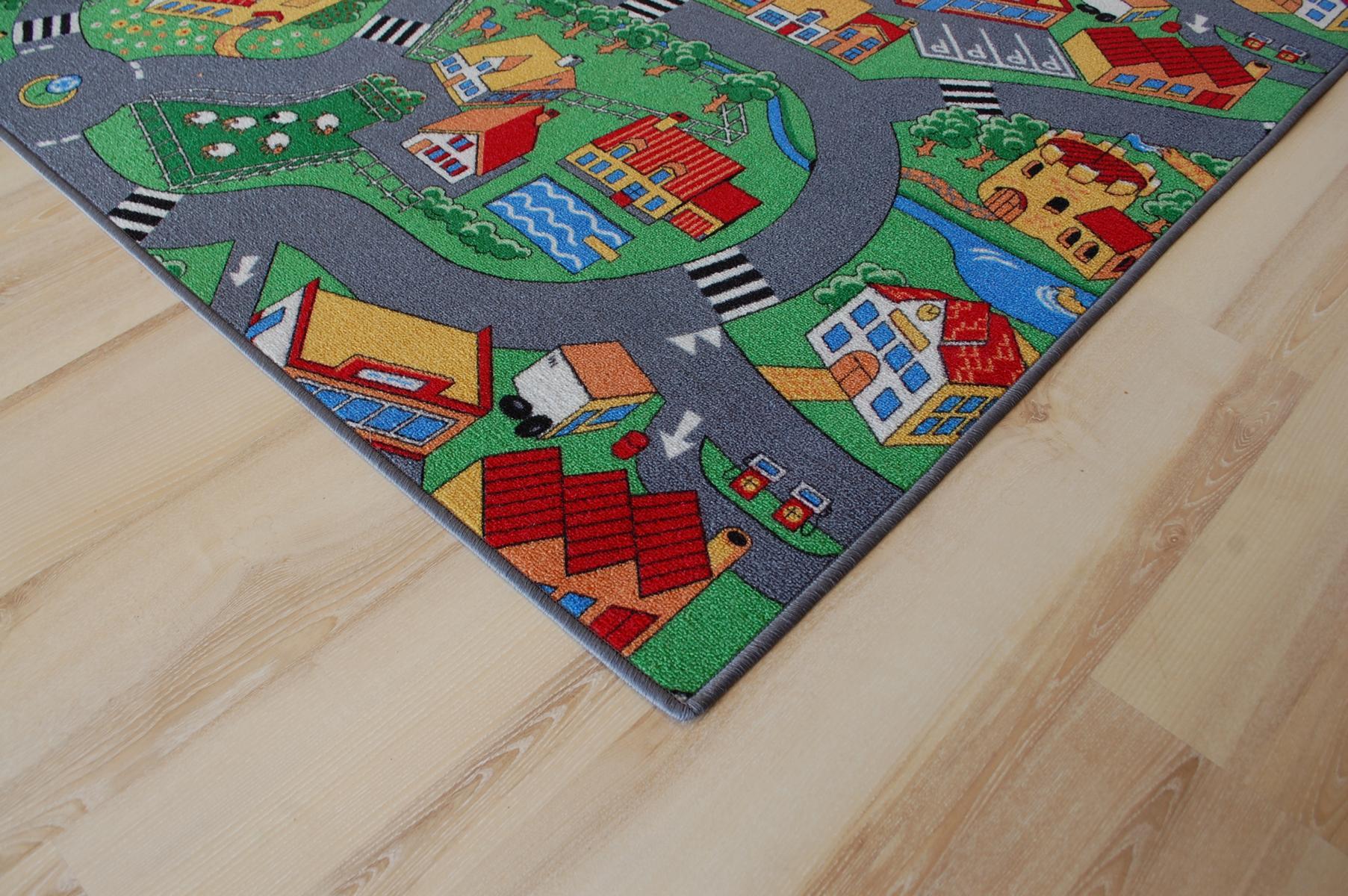tapis routier tapis de jeu ferme 200x490 cm ebay. Black Bedroom Furniture Sets. Home Design Ideas