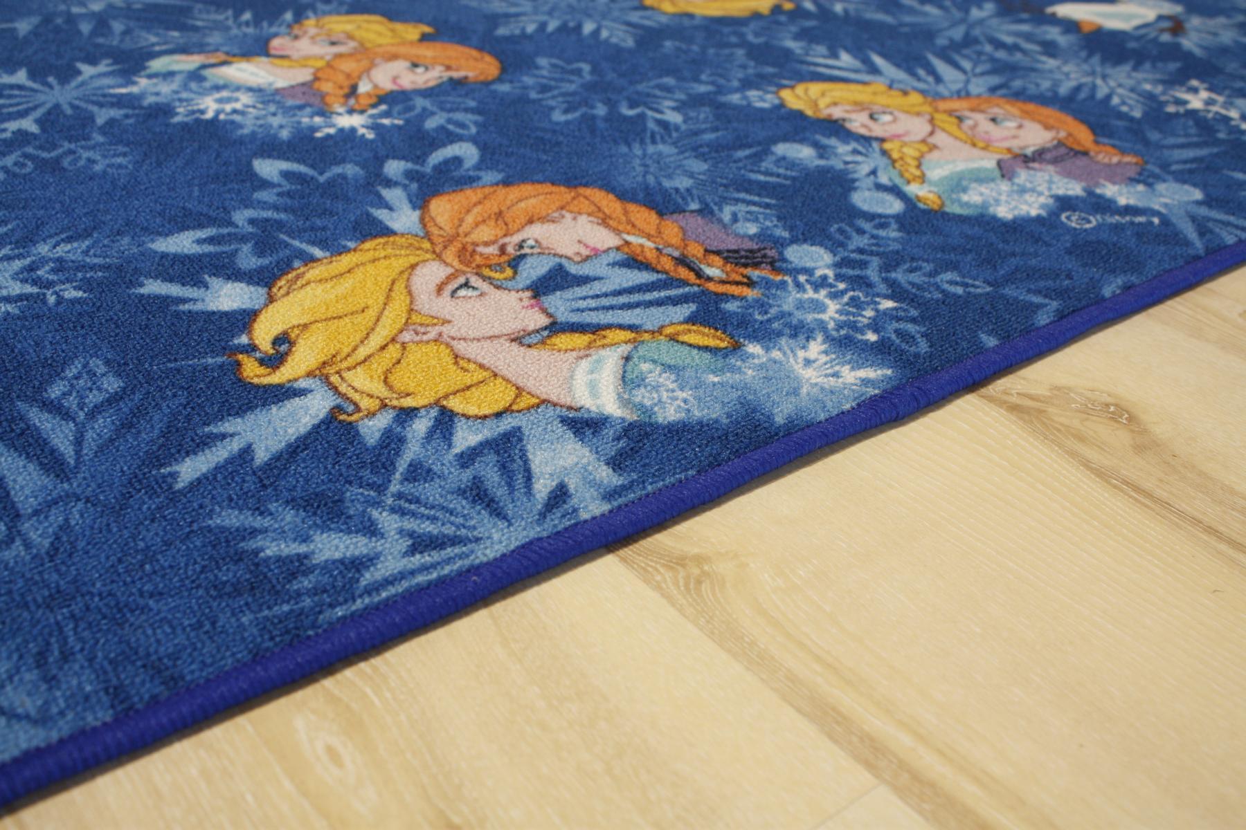 kinder teppich spielteppich eisk nigin frozen blau 140x200 cm elsa olaf anna ebay. Black Bedroom Furniture Sets. Home Design Ideas