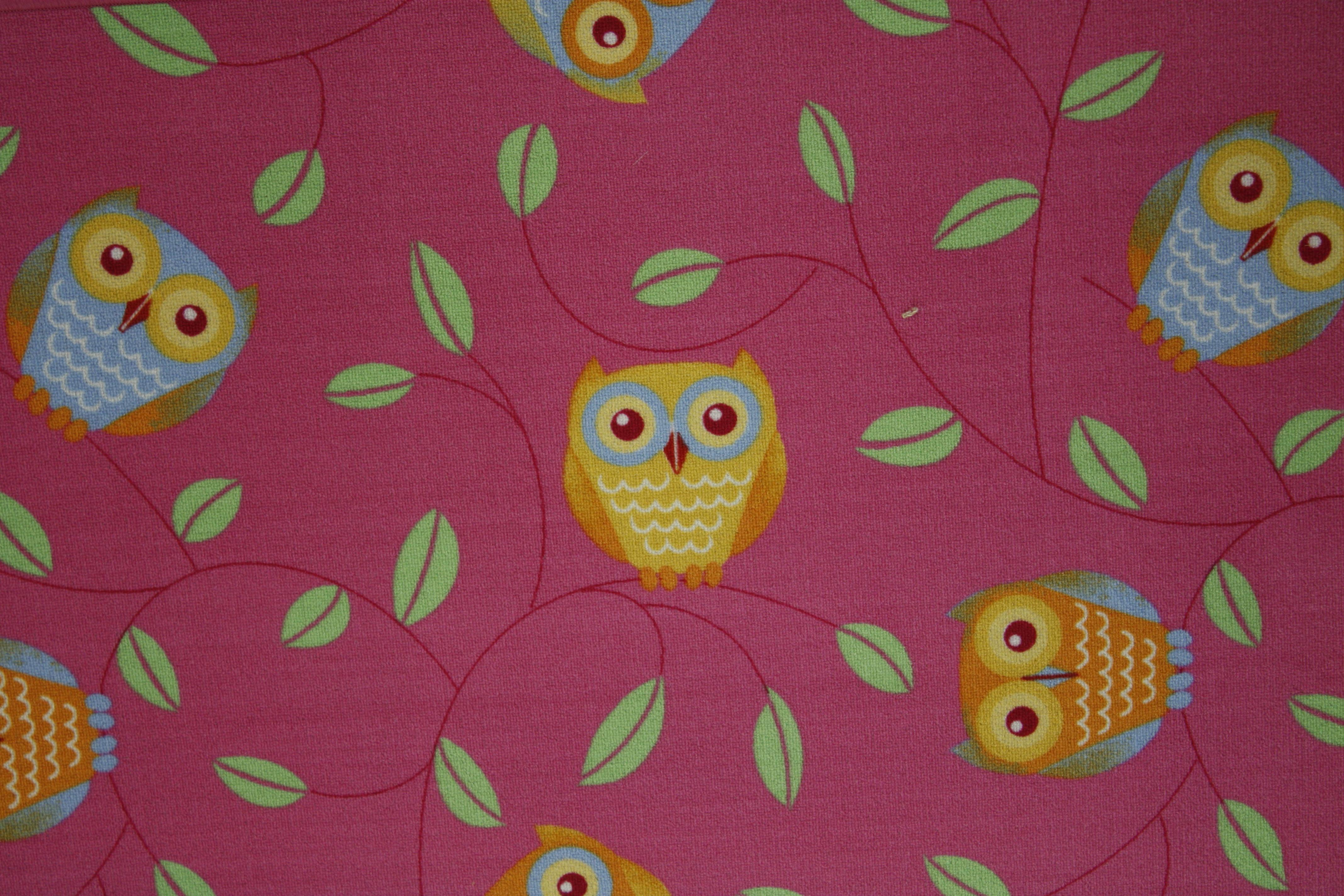 Children Carpet Play carpet Owl pink 200x300cm  eBay