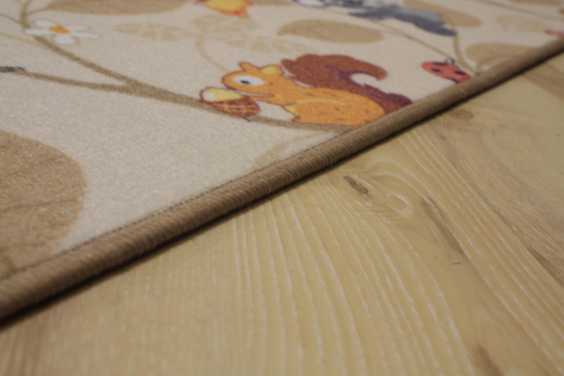 Kinder Teppich Spielteppich Jungle Velours beige 200×300