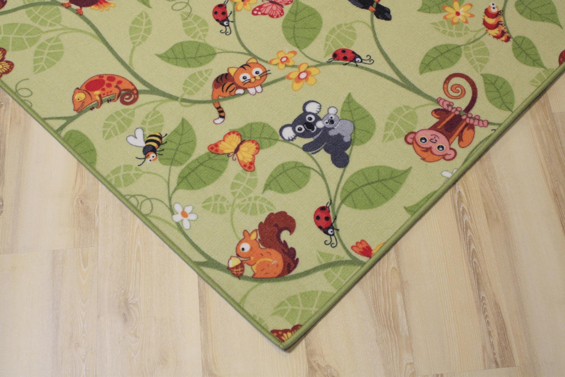 Teppichboden kinderzimmer grün  Kinder Teppich Spielteppich Jungle Velours grün 200x150 cm ...