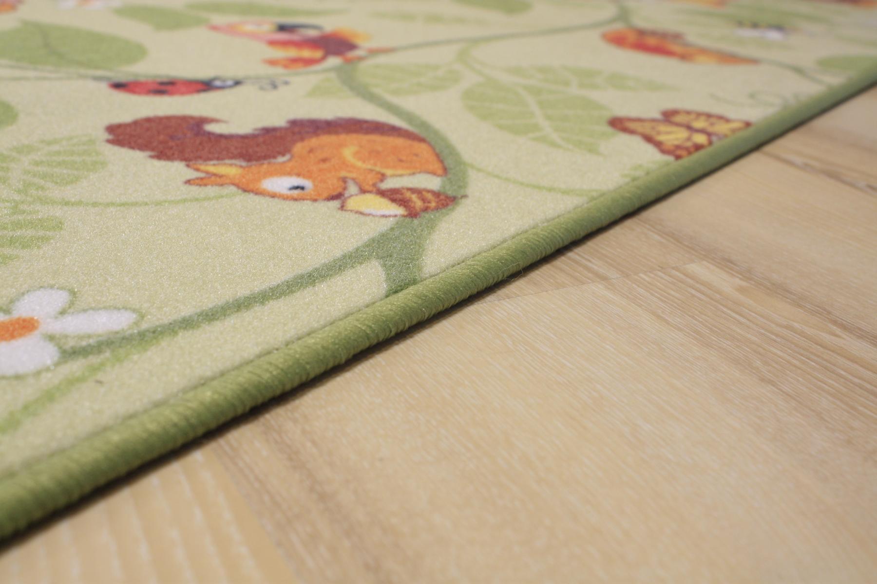 Kinder Teppich Spielteppich Jungle Velours grün 200×150 cm