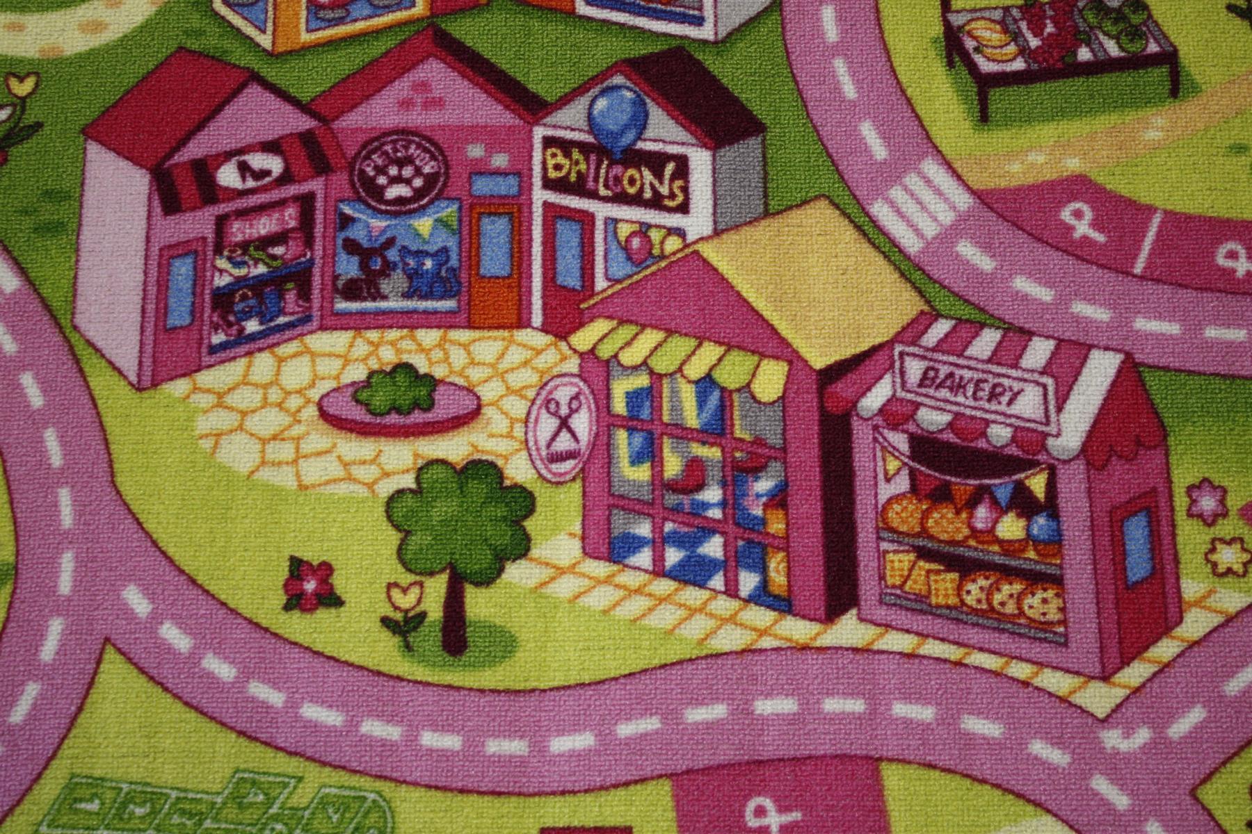 Alfombra carretera Alfombra de juego Niña alfombra 200×150