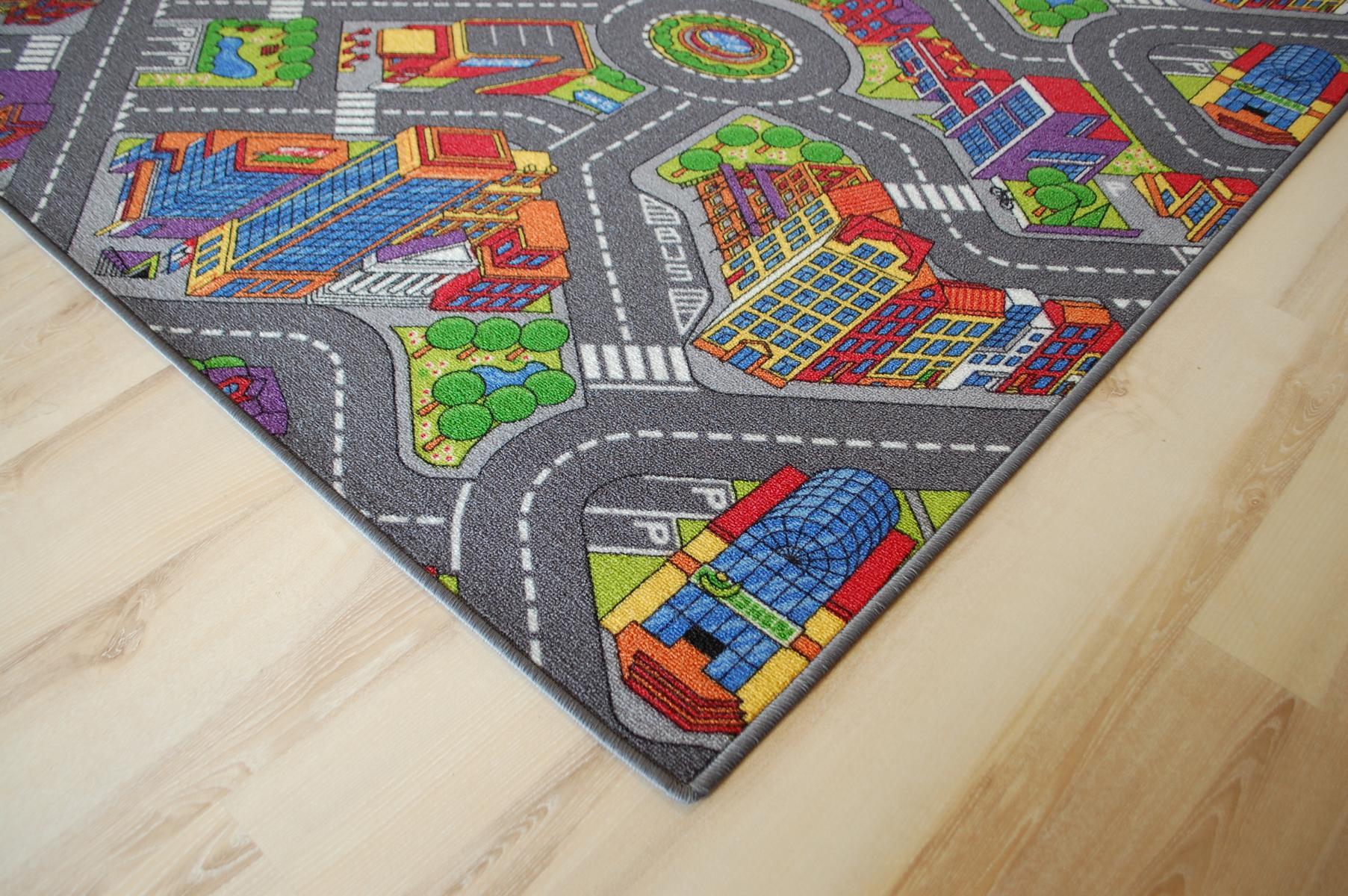 tapis routier enfants tapis de jeu citylight 287x325 cm ebay. Black Bedroom Furniture Sets. Home Design Ideas