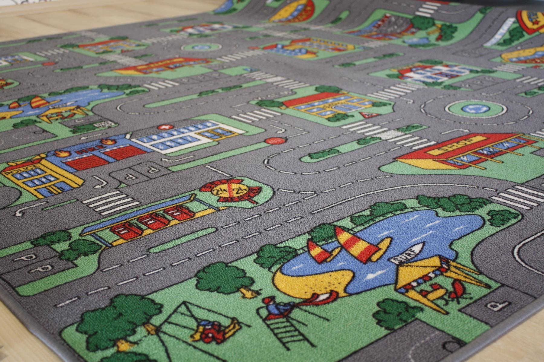 Tappeto stradale Bambini Tappeto Gioco città 200×160 cm