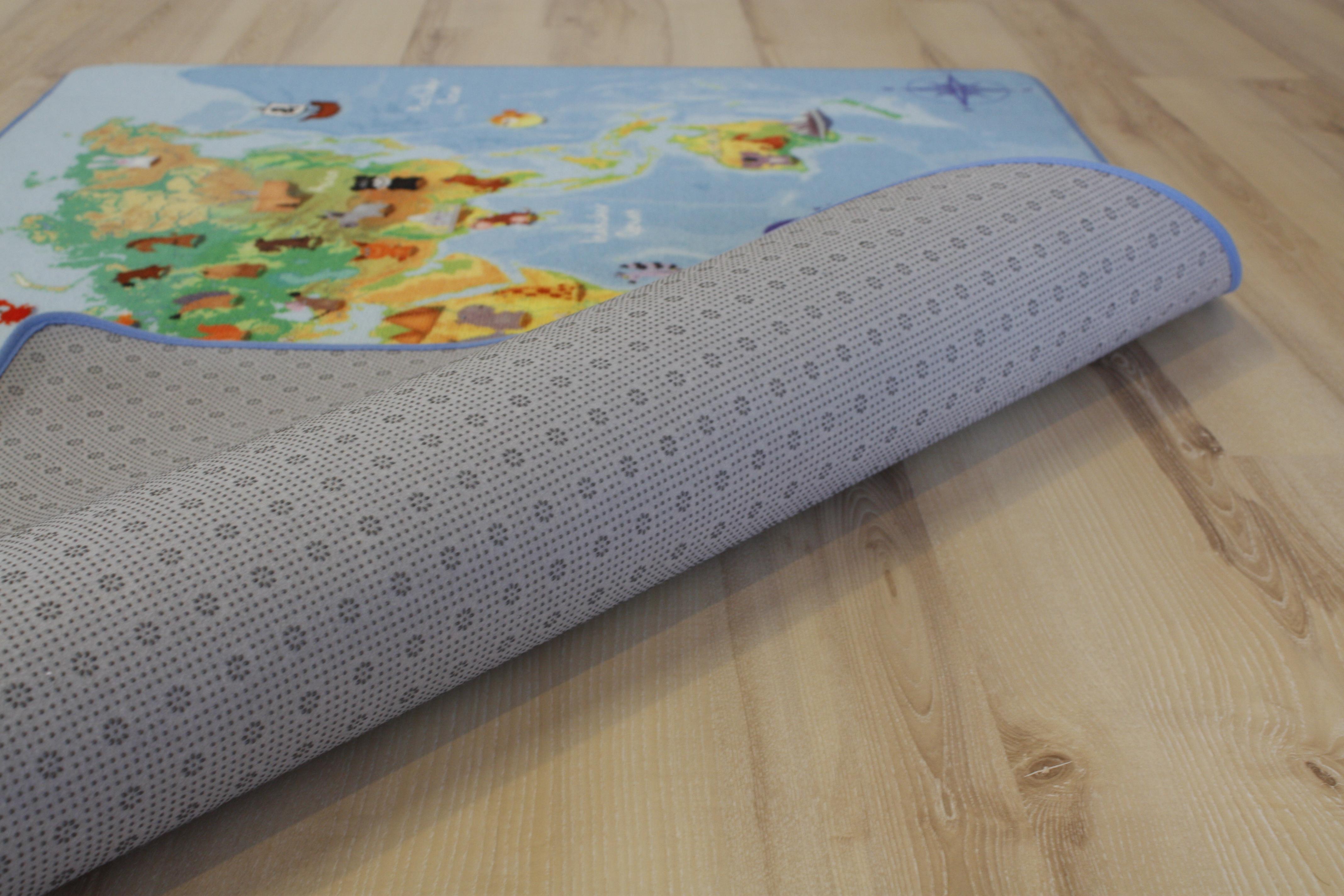 Tappeto bambini tappeto da gioco mappa mondo 140 x 200cm - Tappeto riscaldamento pavimento ...
