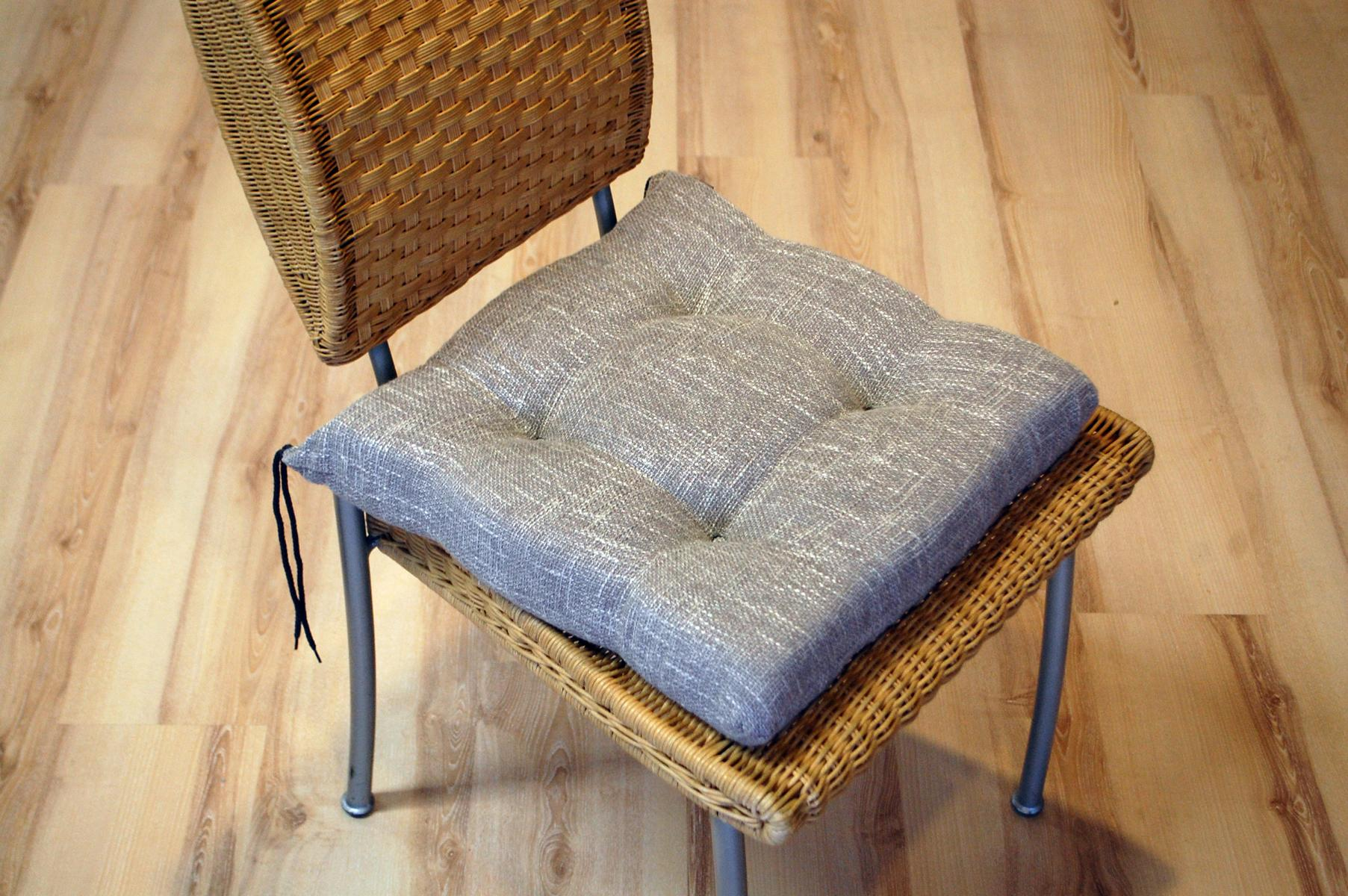 stuhlkissen sitzkissen sun garden henry 720 silber grau 50365 5900246374307 ebay. Black Bedroom Furniture Sets. Home Design Ideas