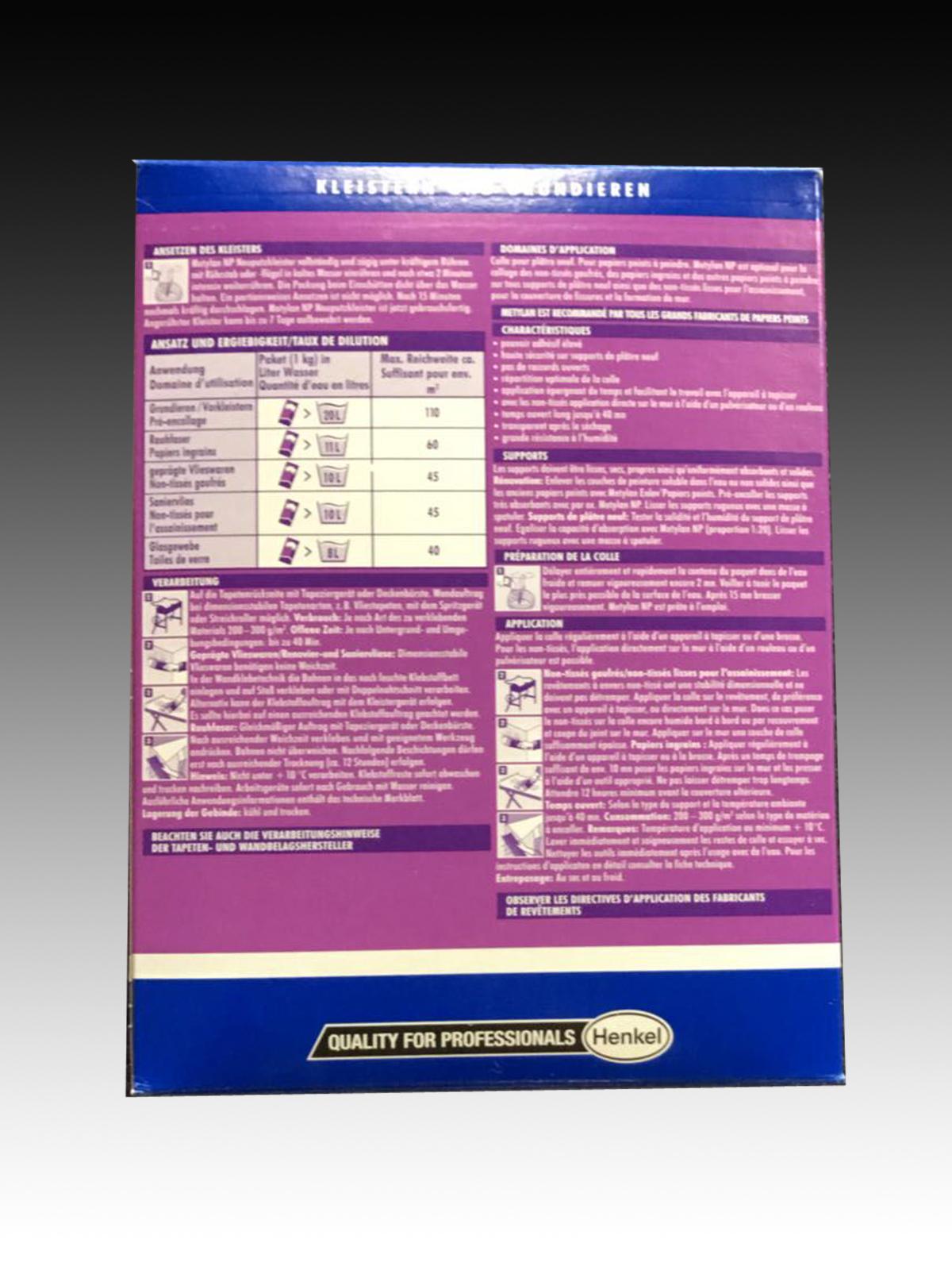 metylan henkel np neuputzkleister 1 kg kleister vlieskleister | ebay