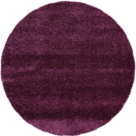 poils longs shaggy poil long tapis silverstar lilas 200cm rond ebay. Black Bedroom Furniture Sets. Home Design Ideas