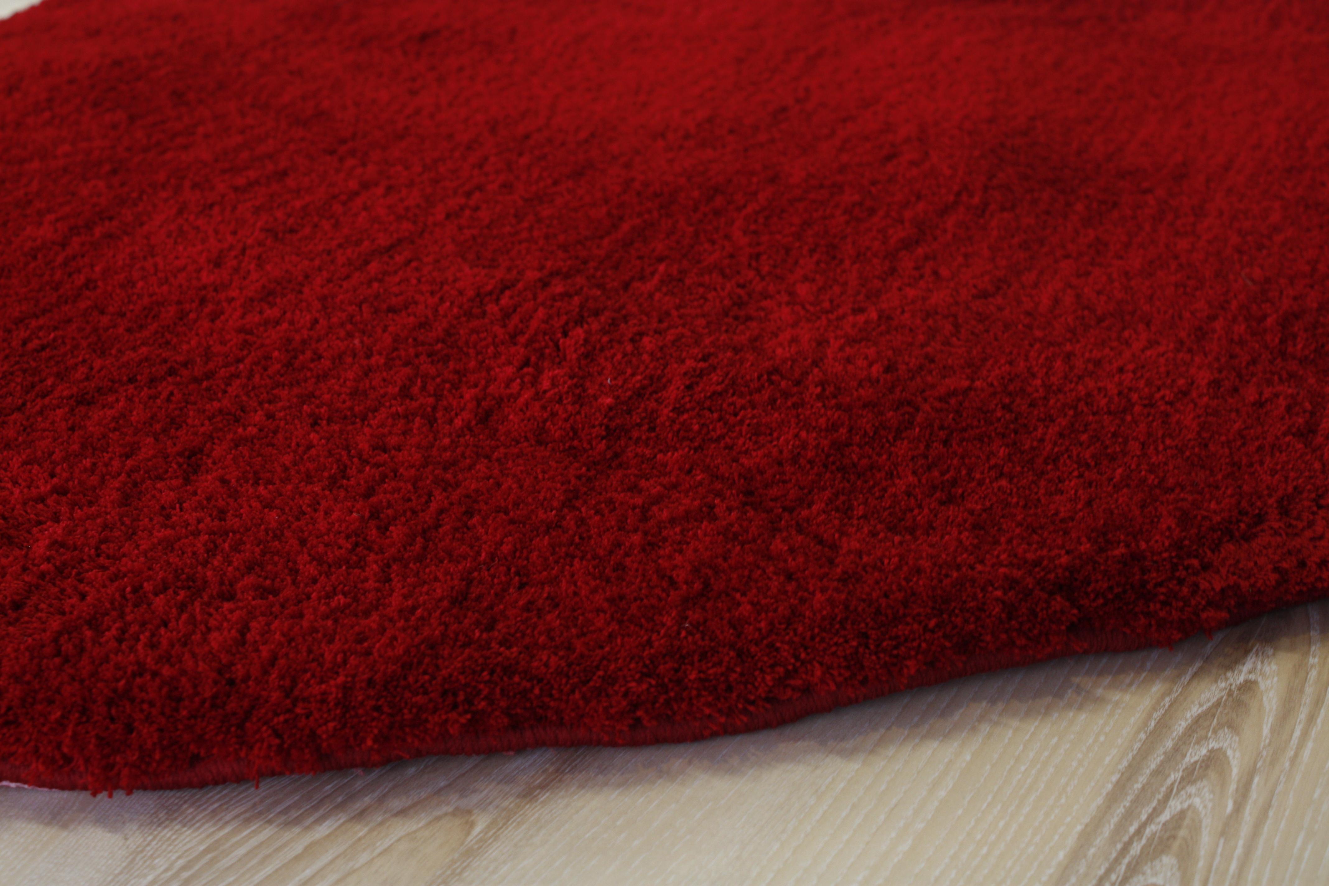 langflor soft shaggy herz teppich 100x100 cm rot ebay. Black Bedroom Furniture Sets. Home Design Ideas