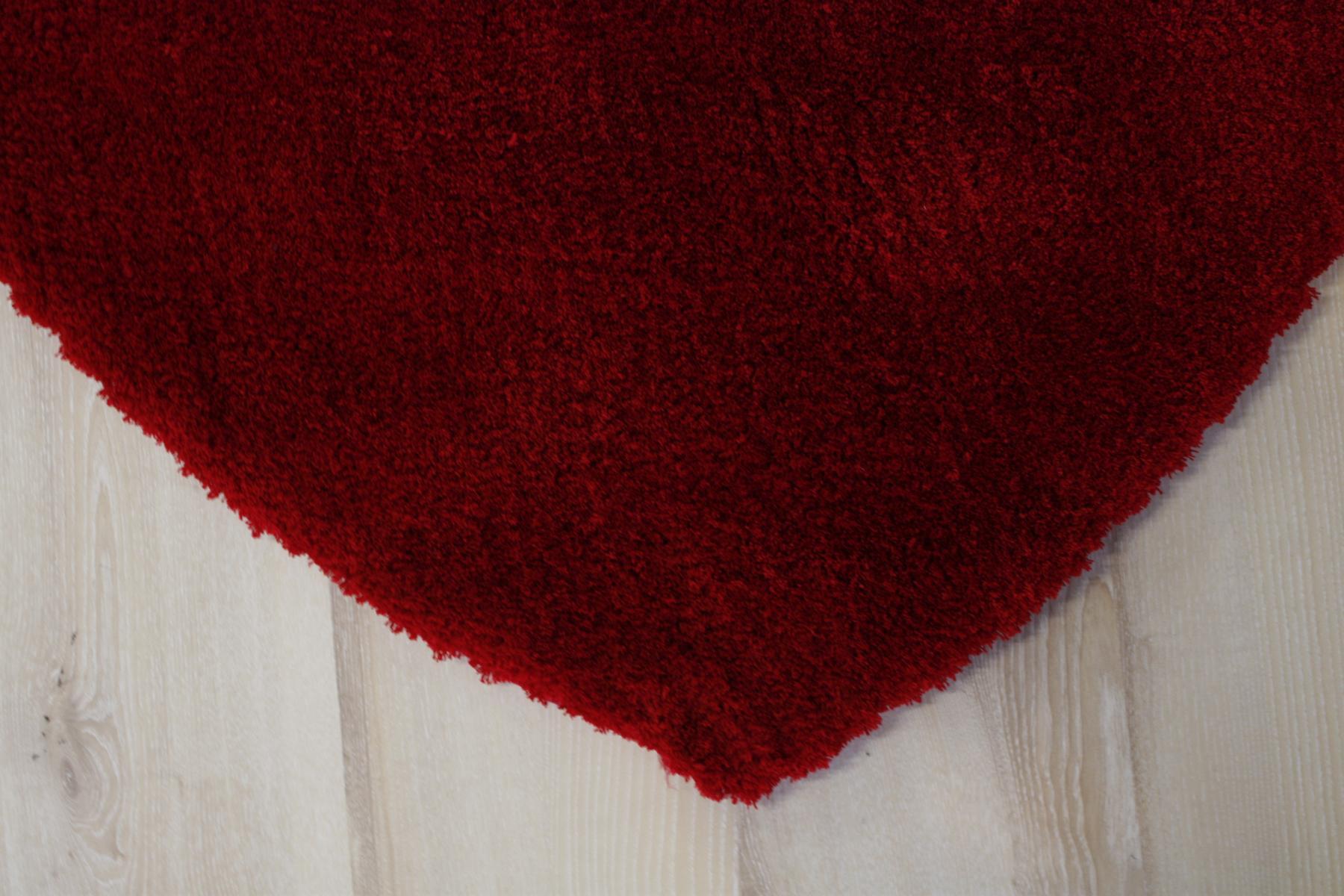Tappeto di cuore Morbido Shaggy 630 rosso 100×100 cm soffice