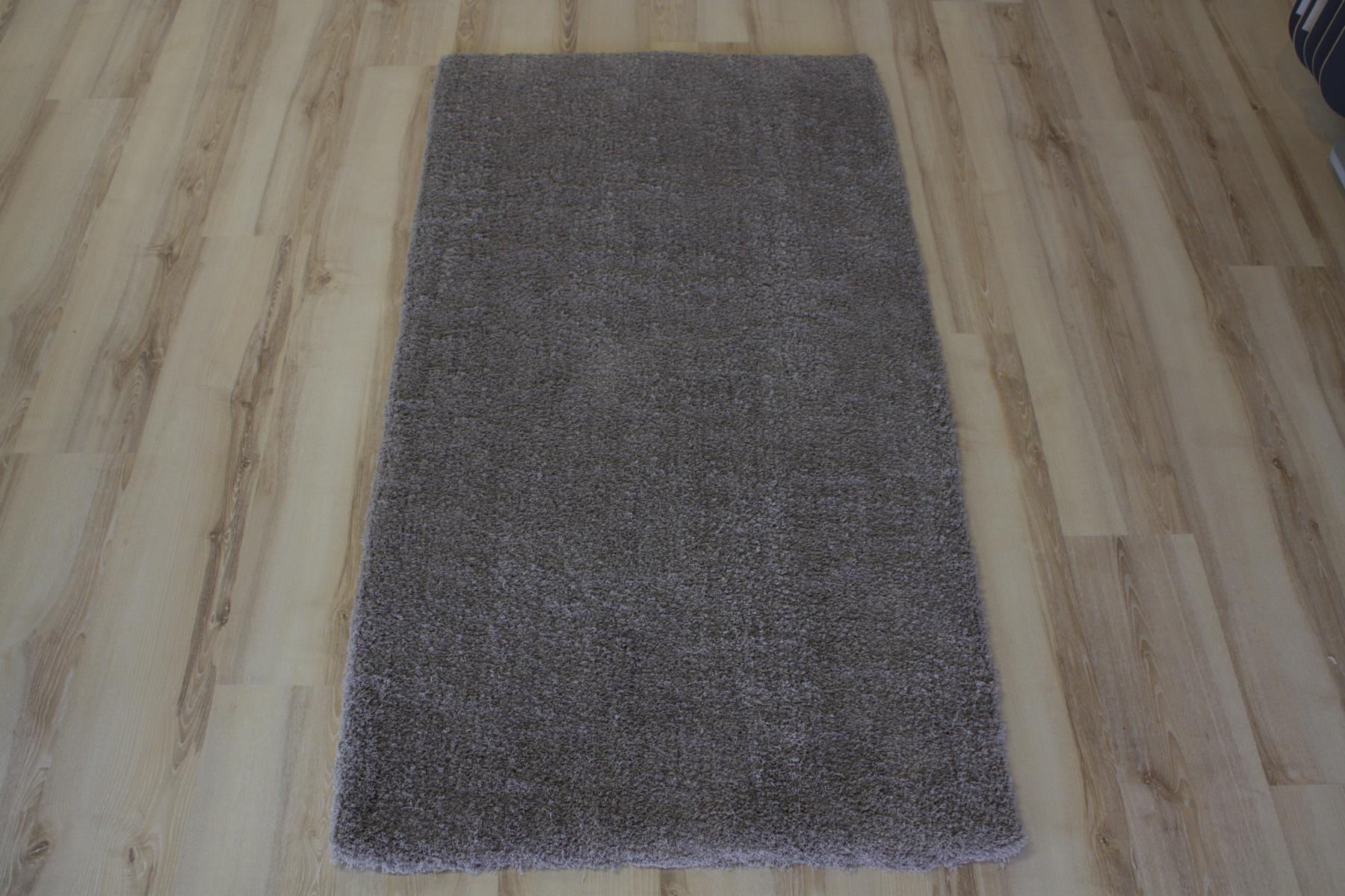 Teppich Langflor Soft Shaggy 640 grau 120×170 cm weich  eBay
