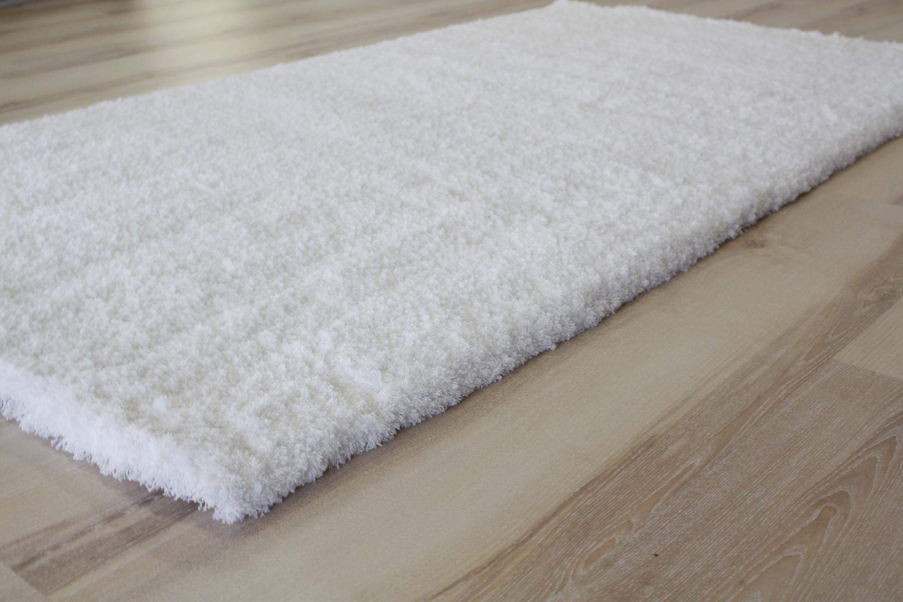 Tappeto Lungo Morbido Shaggy 661 bianco 80×150 cm soffice