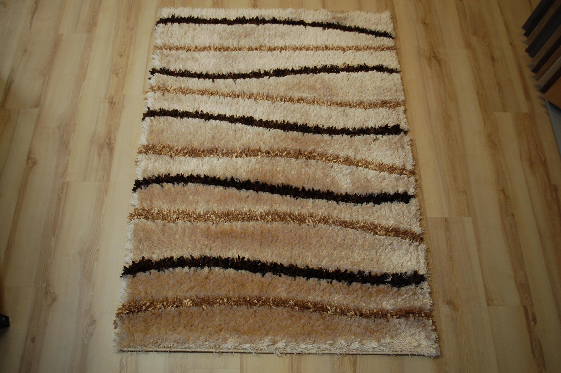 tapis poil long ambato shaggy marron beige ray 120x170cm ebay. Black Bedroom Furniture Sets. Home Design Ideas