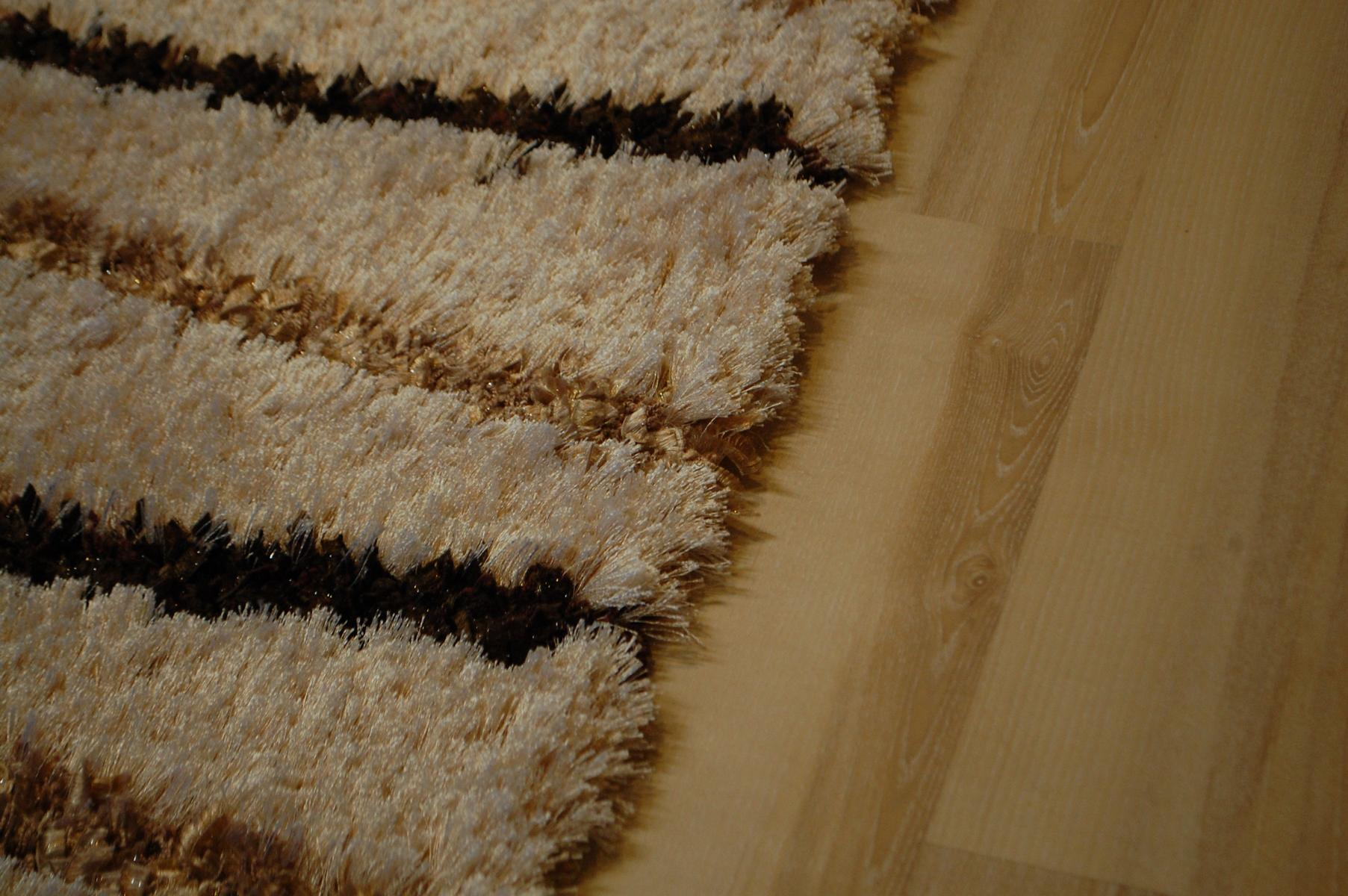 tapis poil long ambato shaggy marron beige ray 120x170cm ebay. Black Bedroom Furniture Sets. Home Design Ideas