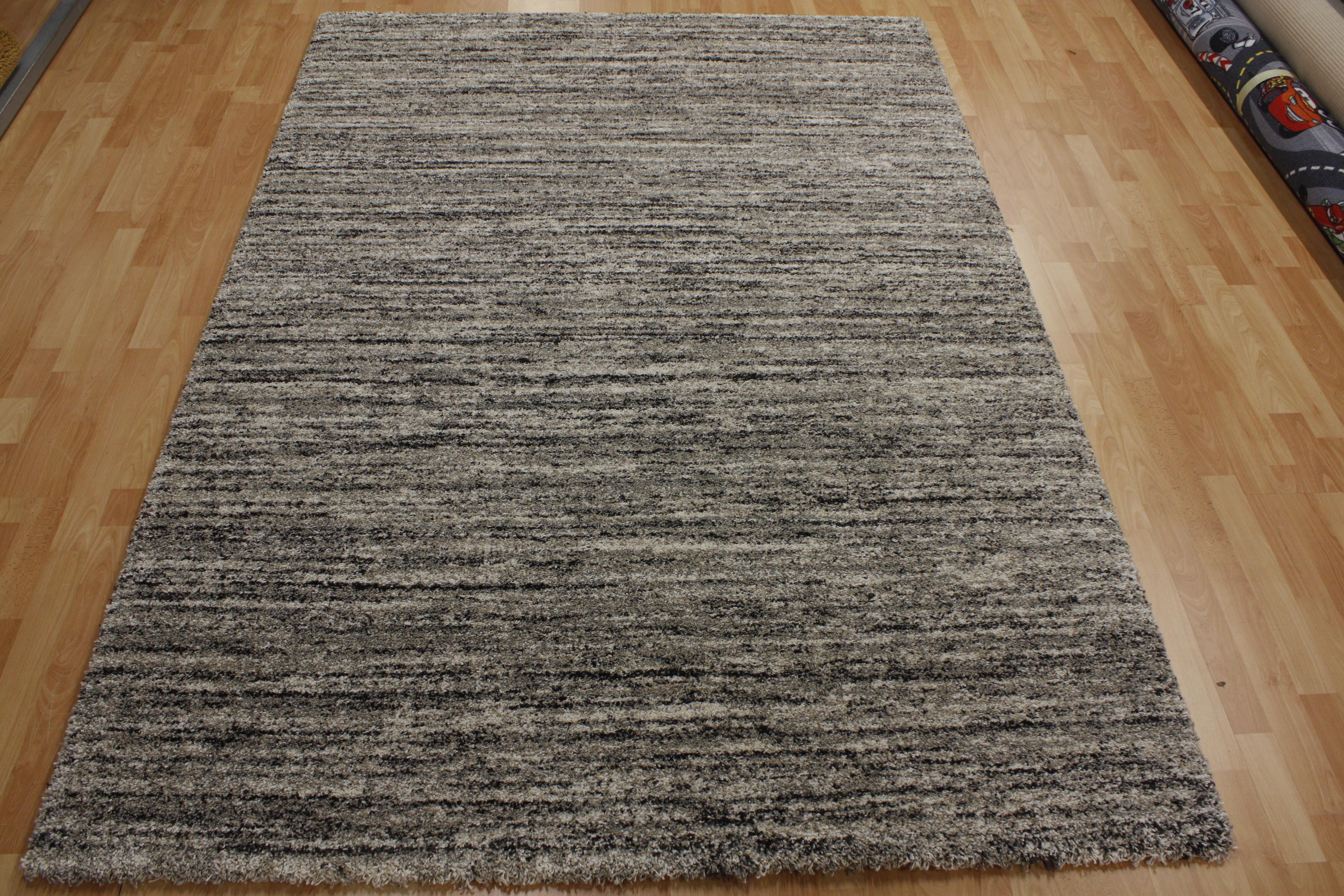 mehari teppich 23067 6848 ragolle 200x290cm streifen grau. Black Bedroom Furniture Sets. Home Design Ideas