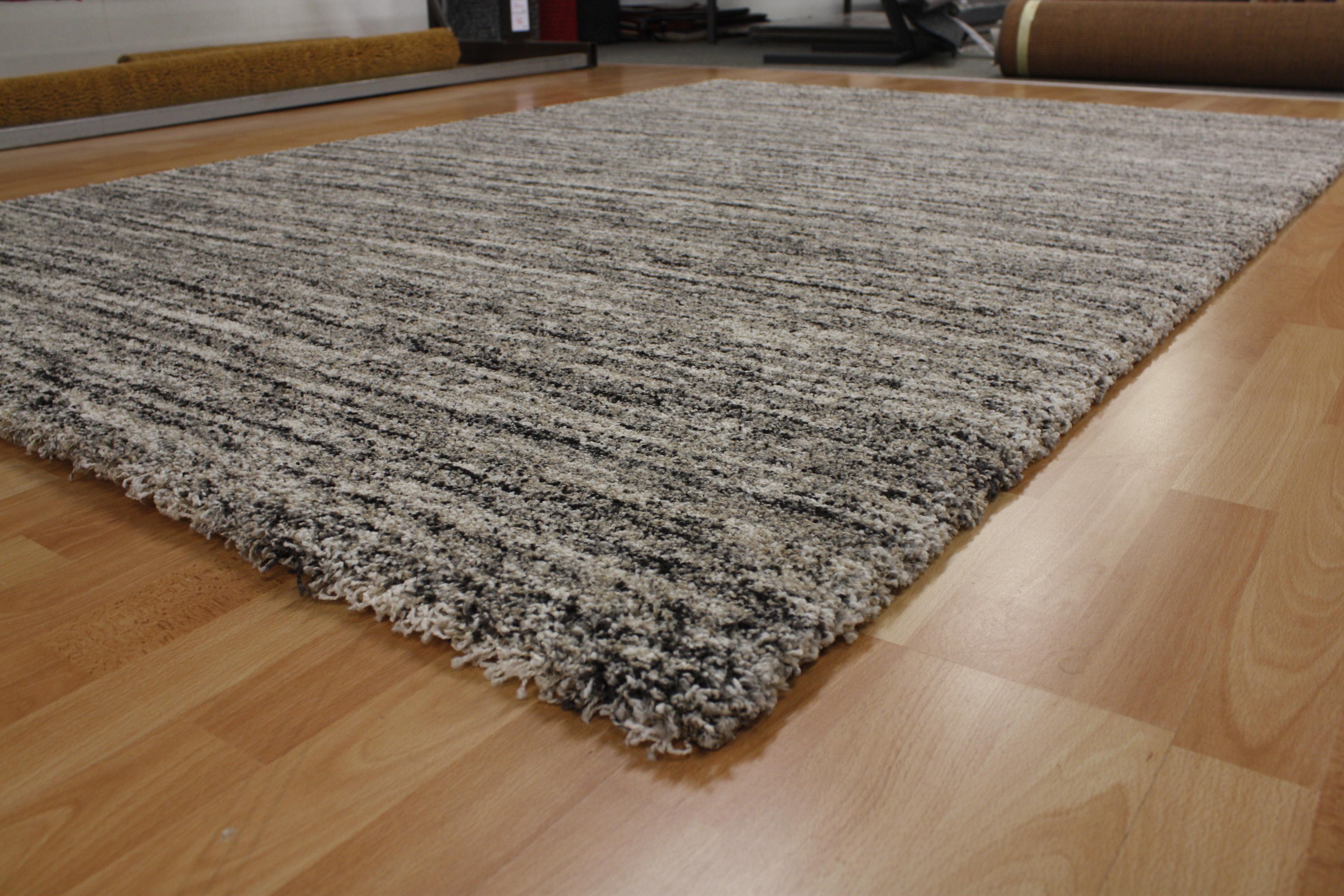 mehari teppich 23067 6848 ragolle 240x340cm streifen grau. Black Bedroom Furniture Sets. Home Design Ideas